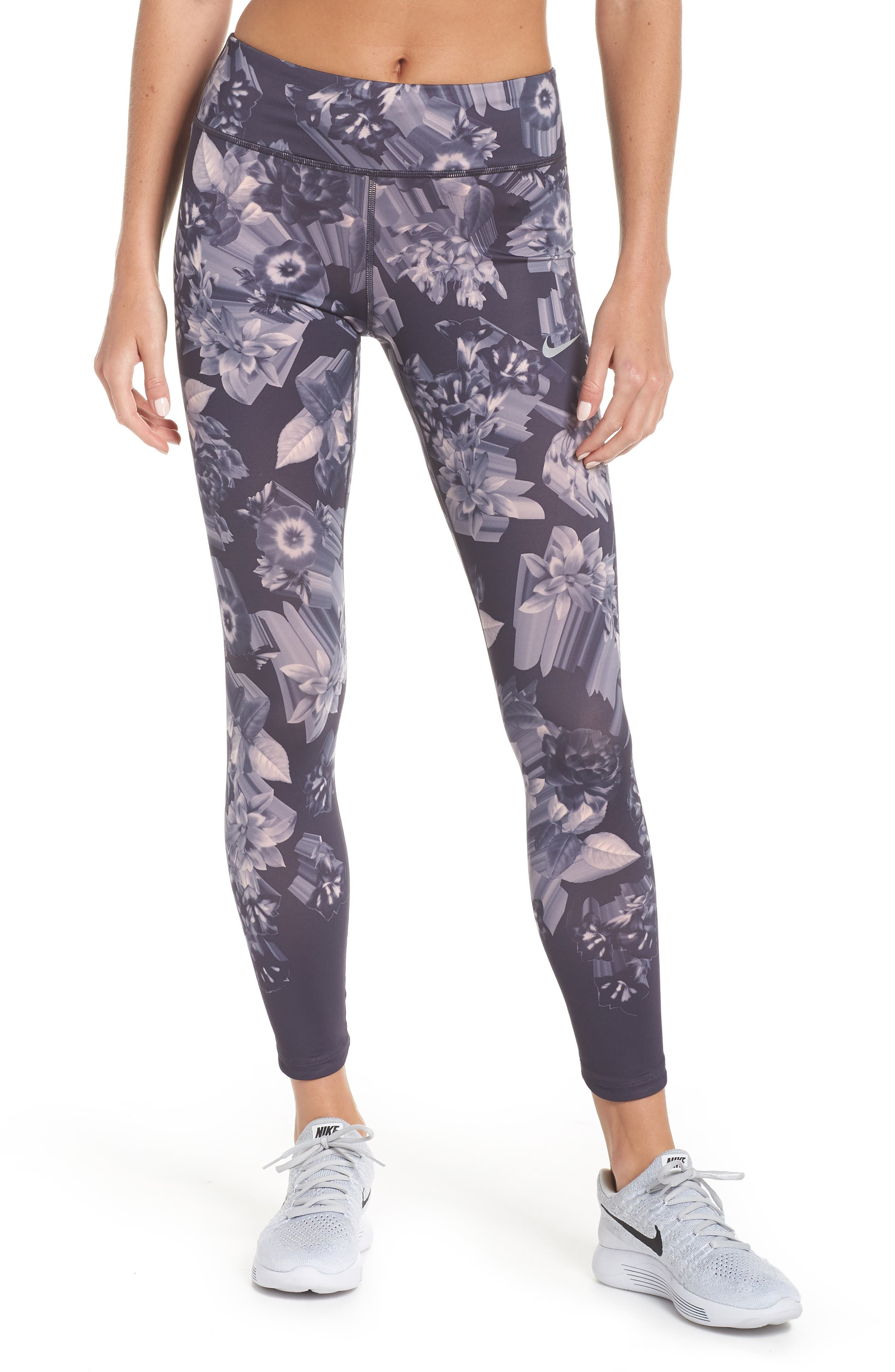 Epic Lux Running Leggings,                         Main,                         color, GRIDIRON/ STORM PINK