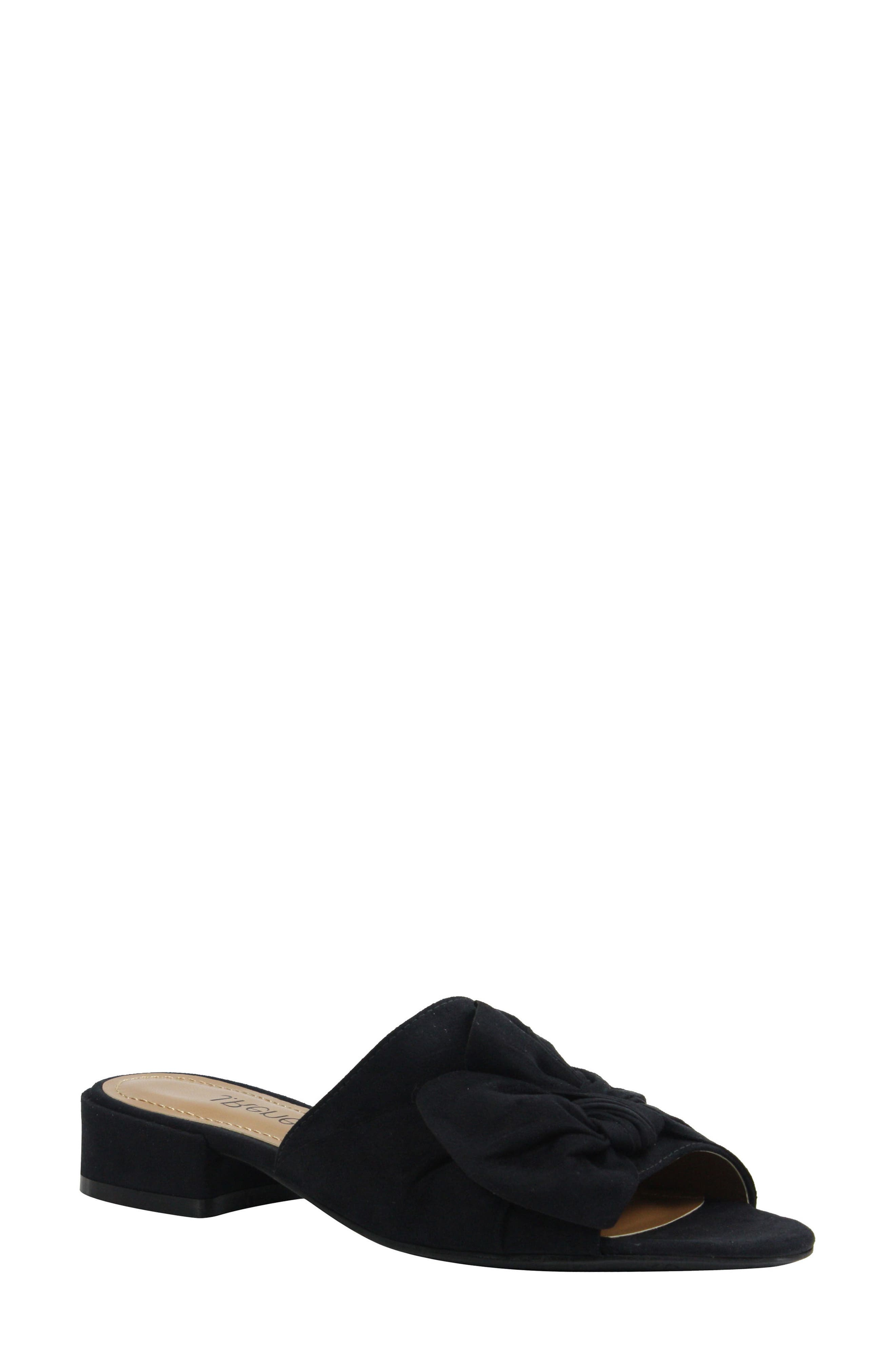 Sattuck Slide Sandal,                             Main thumbnail 1, color,                             BLACK FABRIC