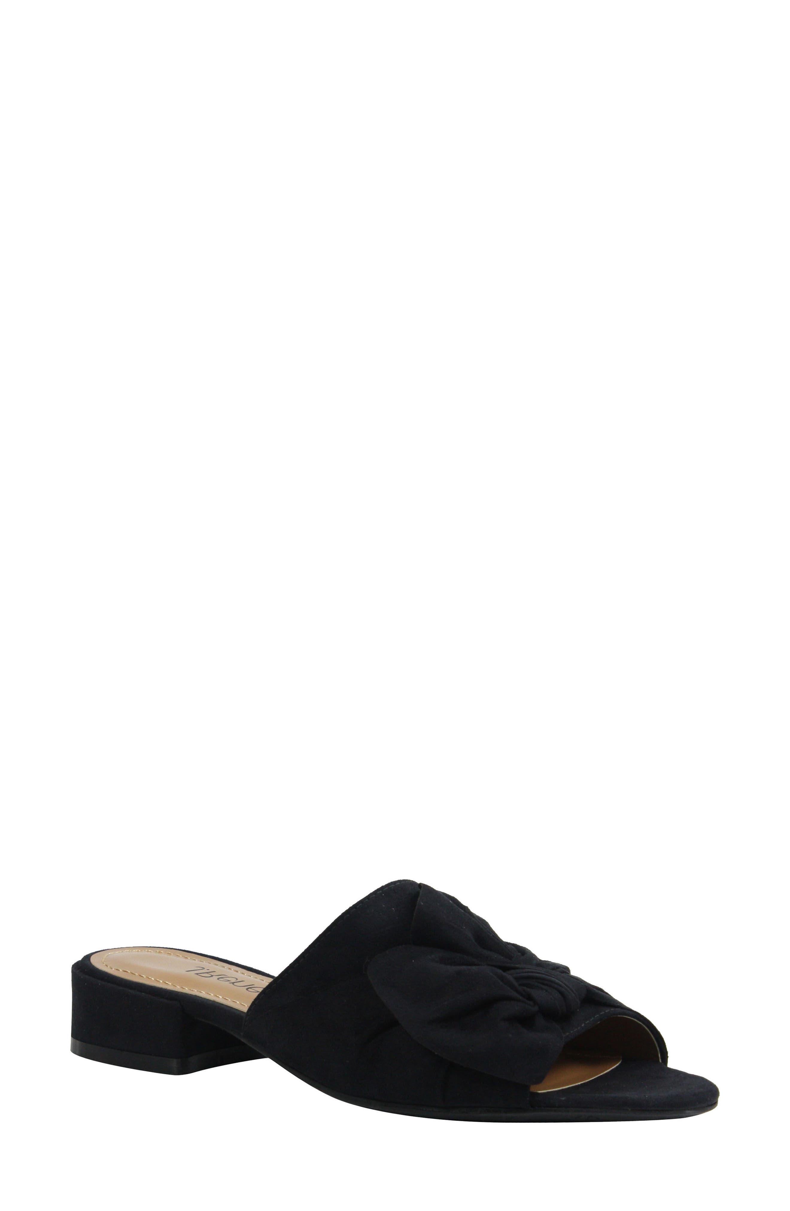 Sattuck Slide Sandal,                         Main,                         color, BLACK FABRIC
