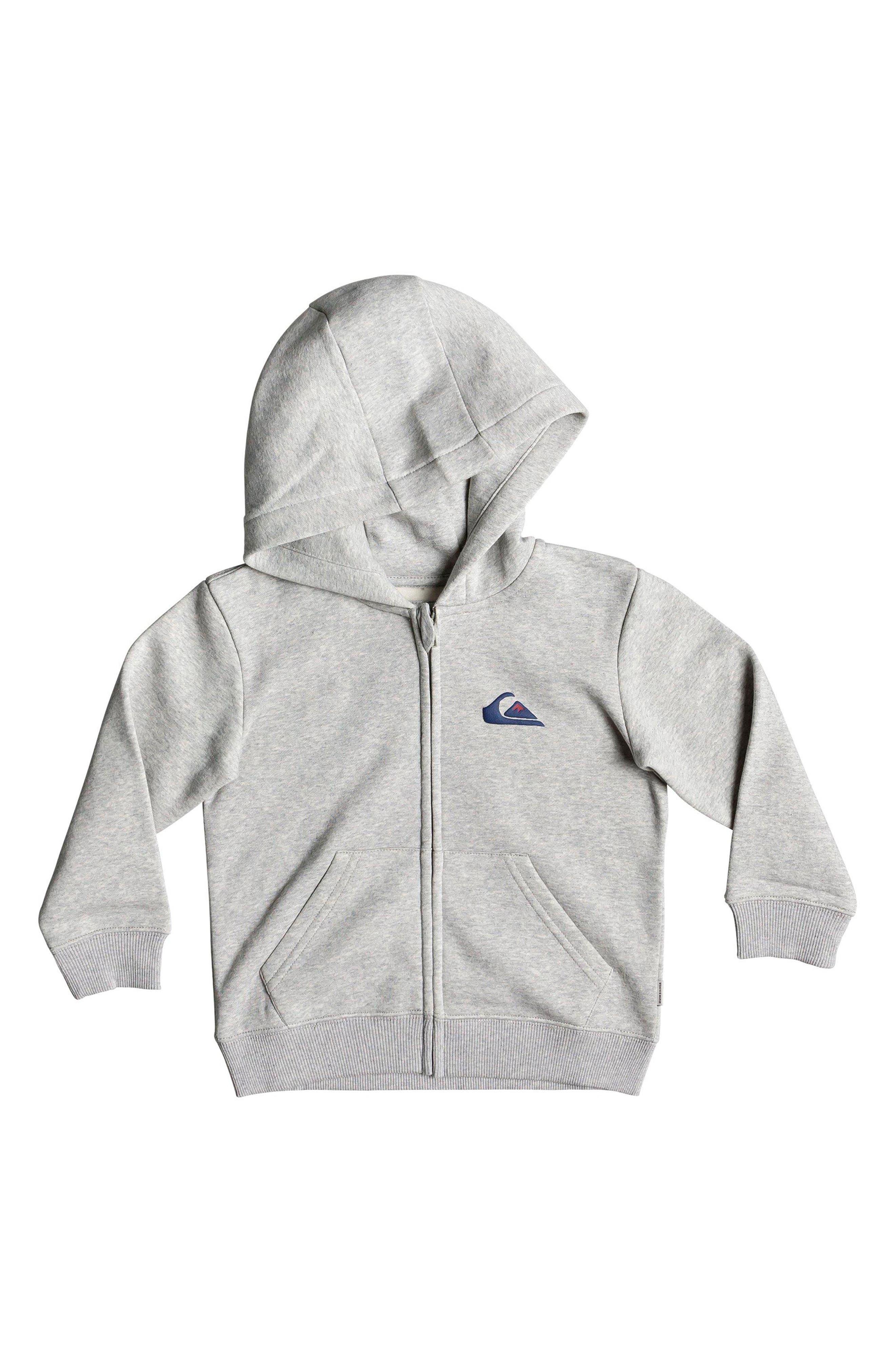 Toddler Boys Quiksilver Jam It Zip Hoodie Size 3T  Grey