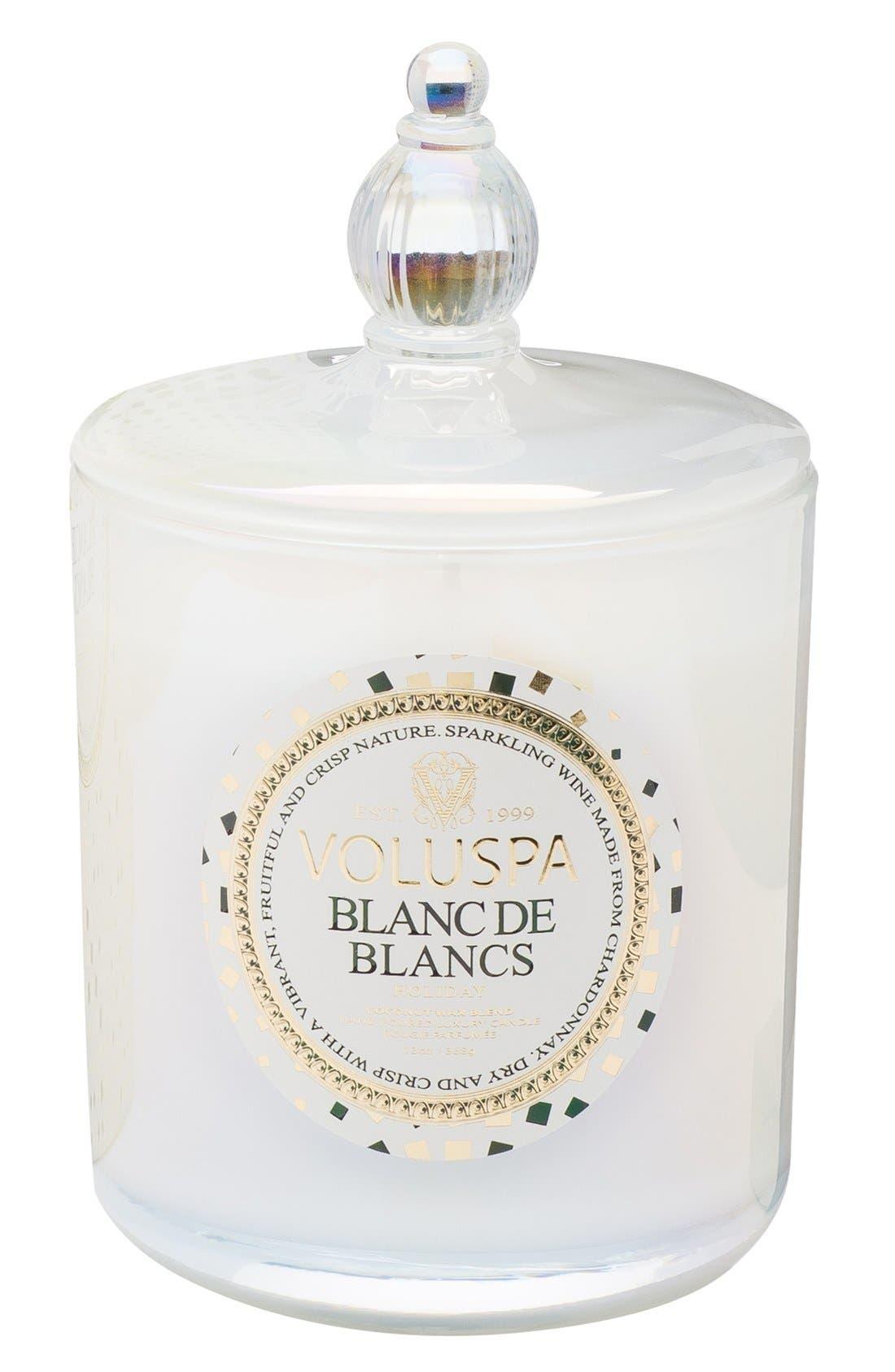 'Maison Holiday - Blanc de Blancs' Decorative Candle,                             Alternate thumbnail 2, color,                             000