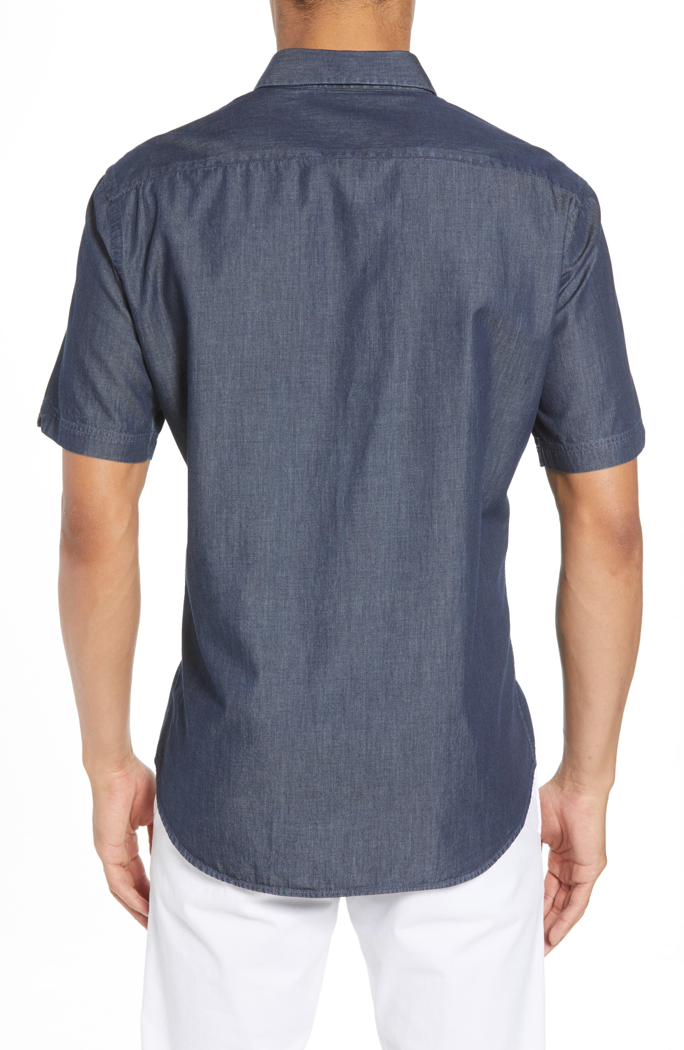 ZACHARY PRELL,                             Manolis Denim Sport Shirt,                             Alternate thumbnail 2, color,                             471