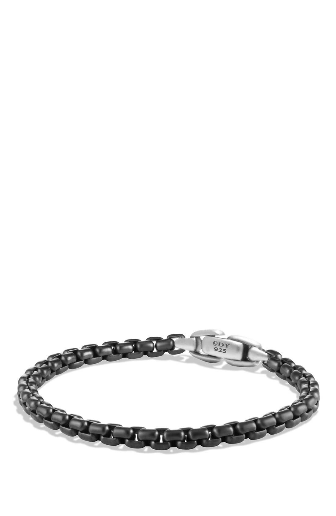 Box Chain Bracelet,                             Main thumbnail 1, color,                             STAINLESS STEEL