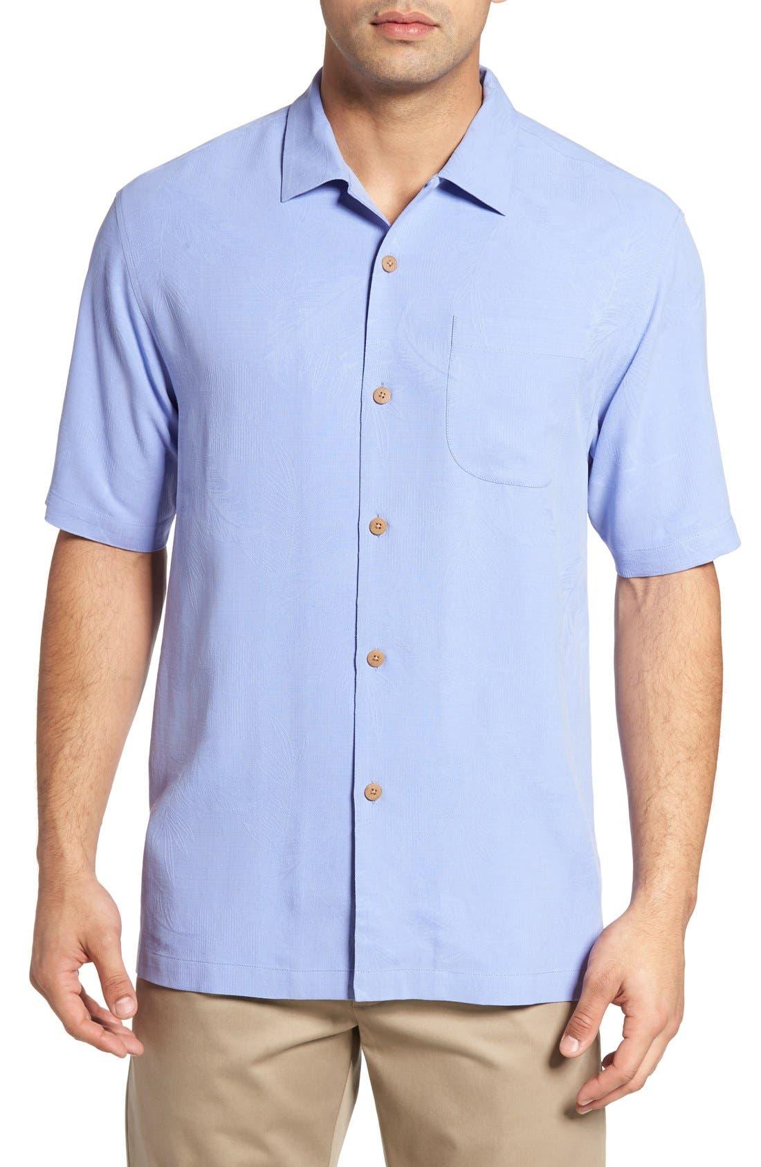 Rio Fronds Short Sleeve Silk Sport Shirt,                             Main thumbnail 15, color,