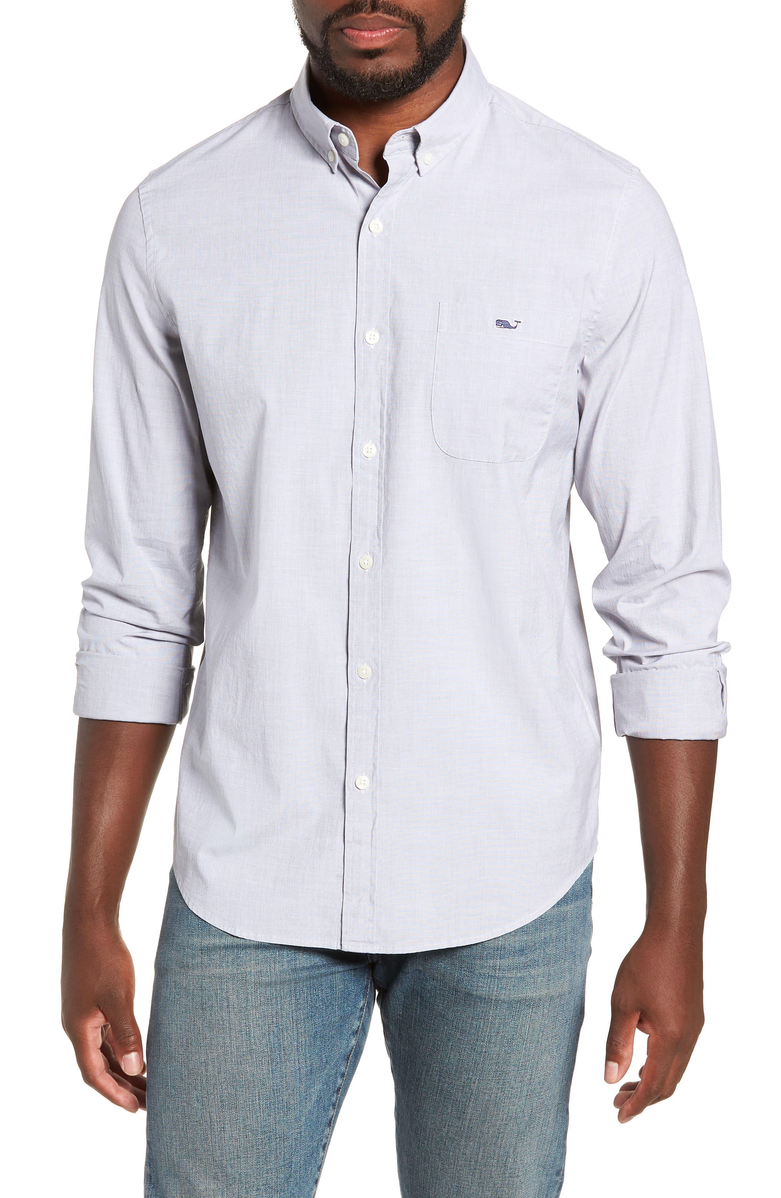 Tucker End on End Slim Fit Sport Shirt,                         Main,                         color, 064