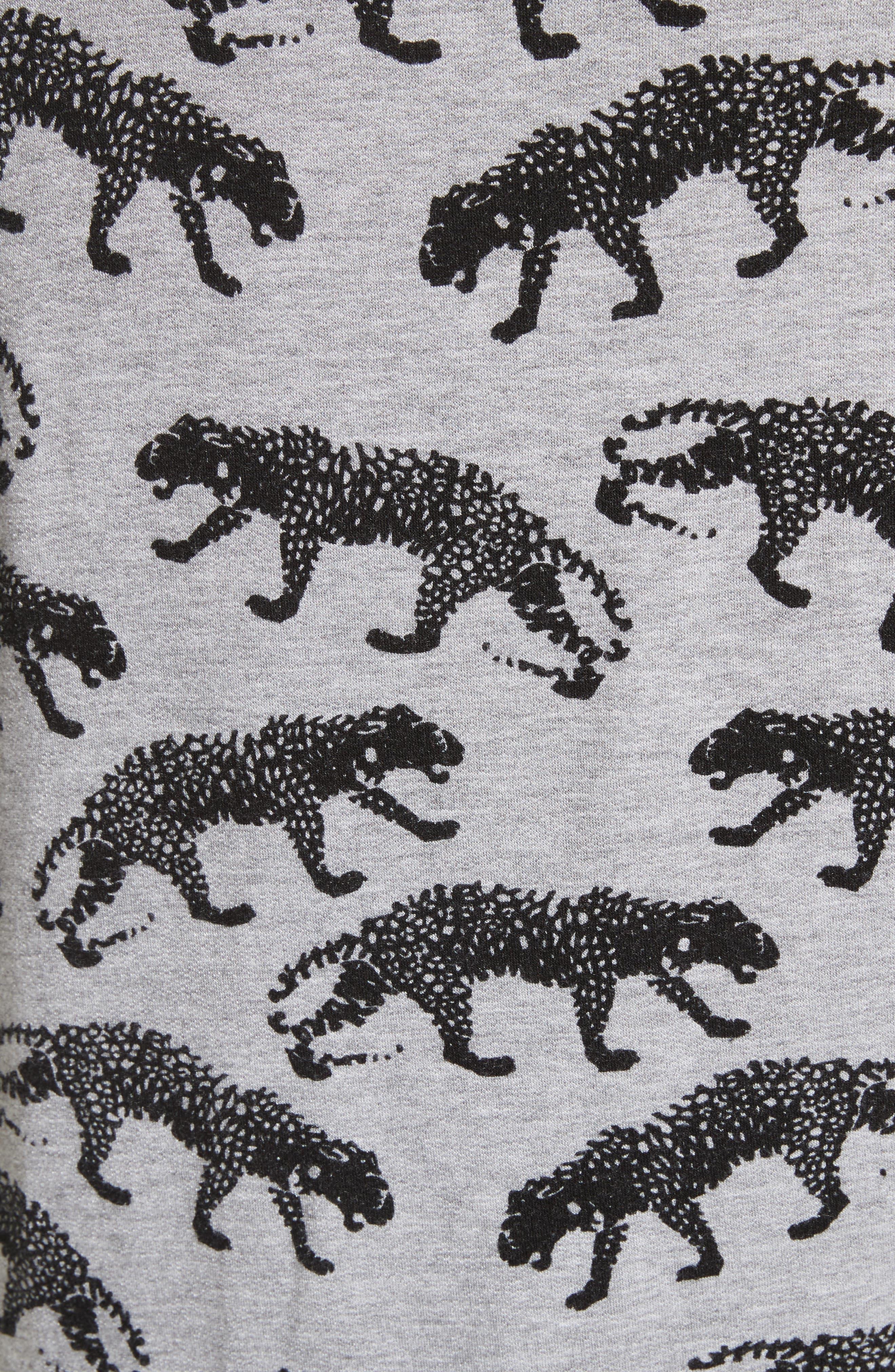 Annora B Animal Print Sweatshirt,                             Alternate thumbnail 5, color,                             033
