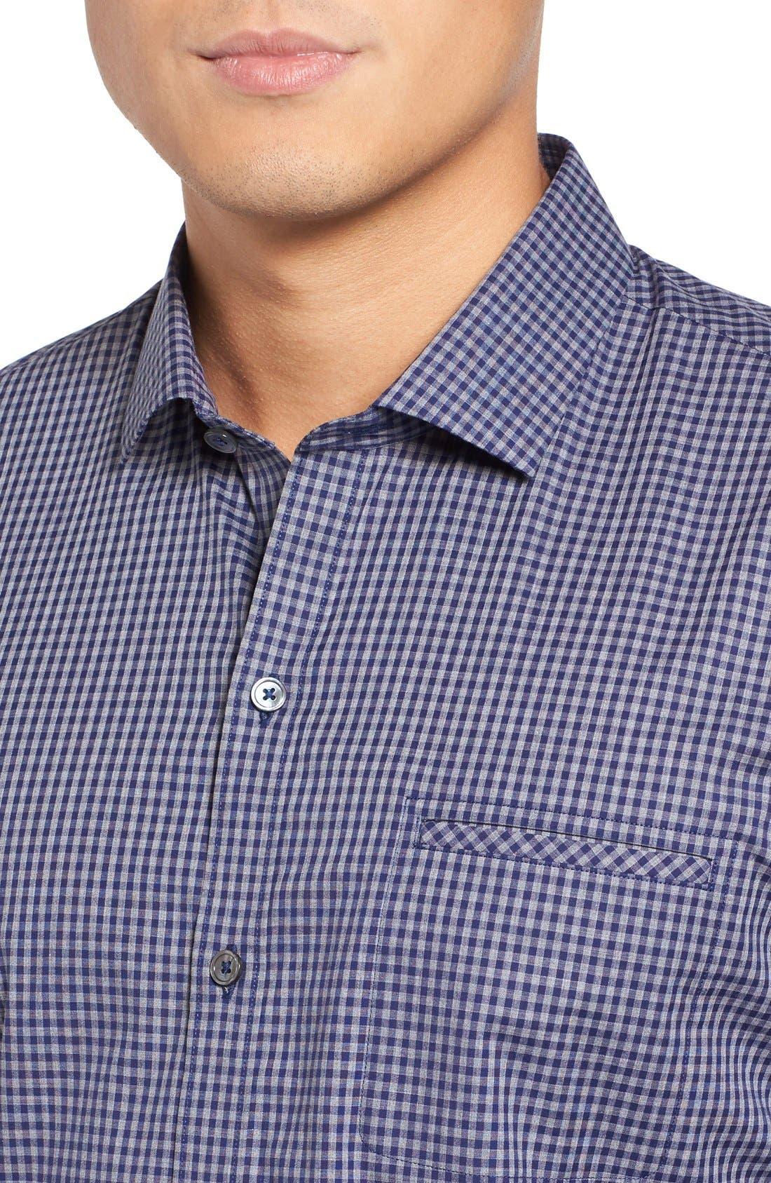 Fitzpatrick Trim Fit Sport Shirt,                             Alternate thumbnail 4, color,                             400