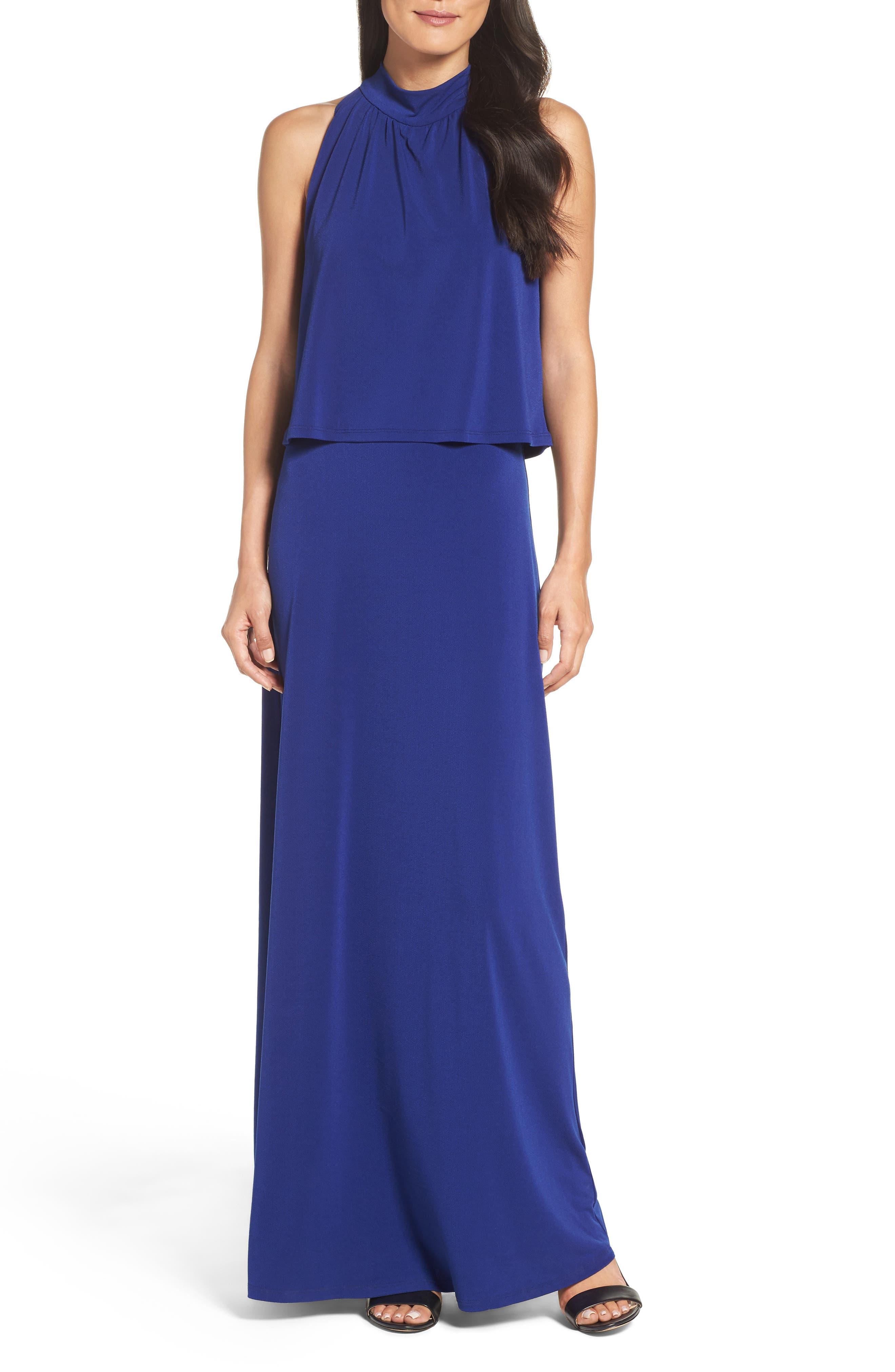 'Syler' Popover Jersey Maxi Dress,                             Main thumbnail 1, color,                             415