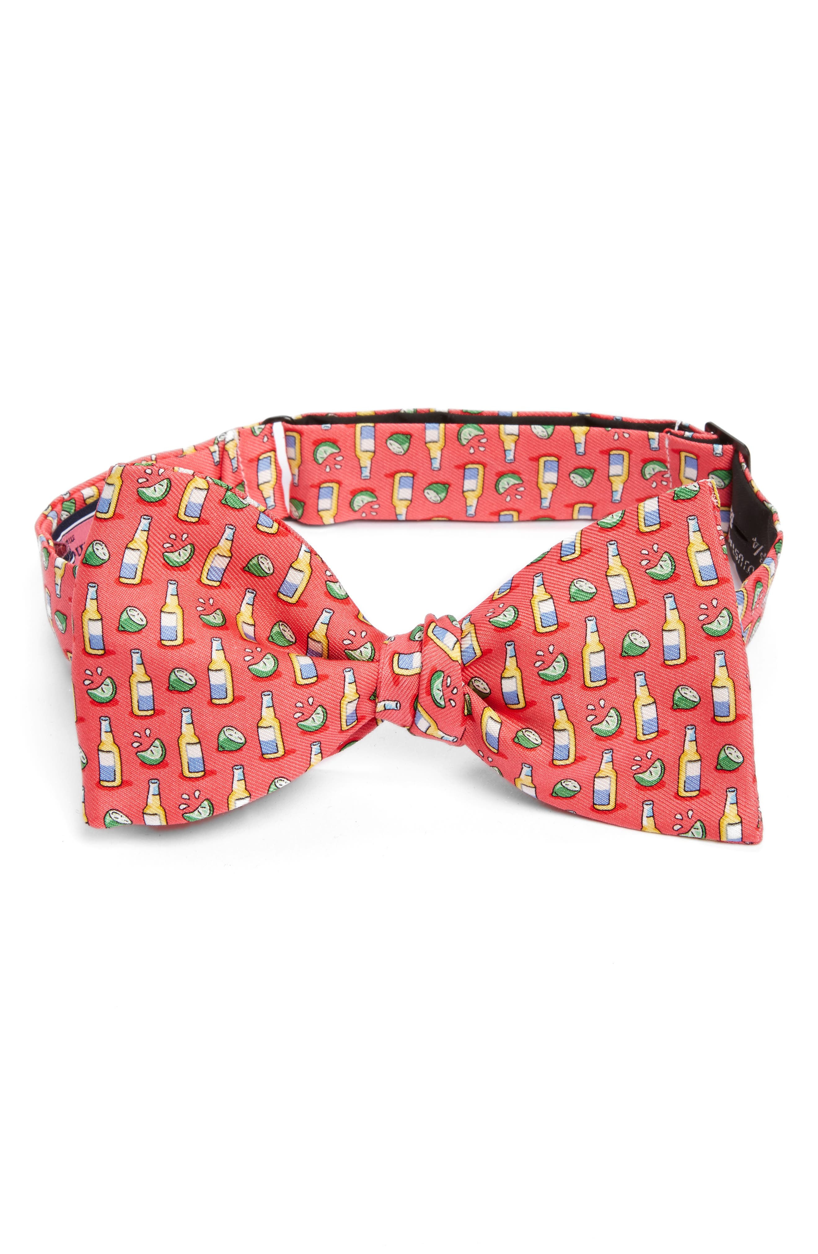 Beer & Lime Silk Bow Tie,                         Main,                         color,