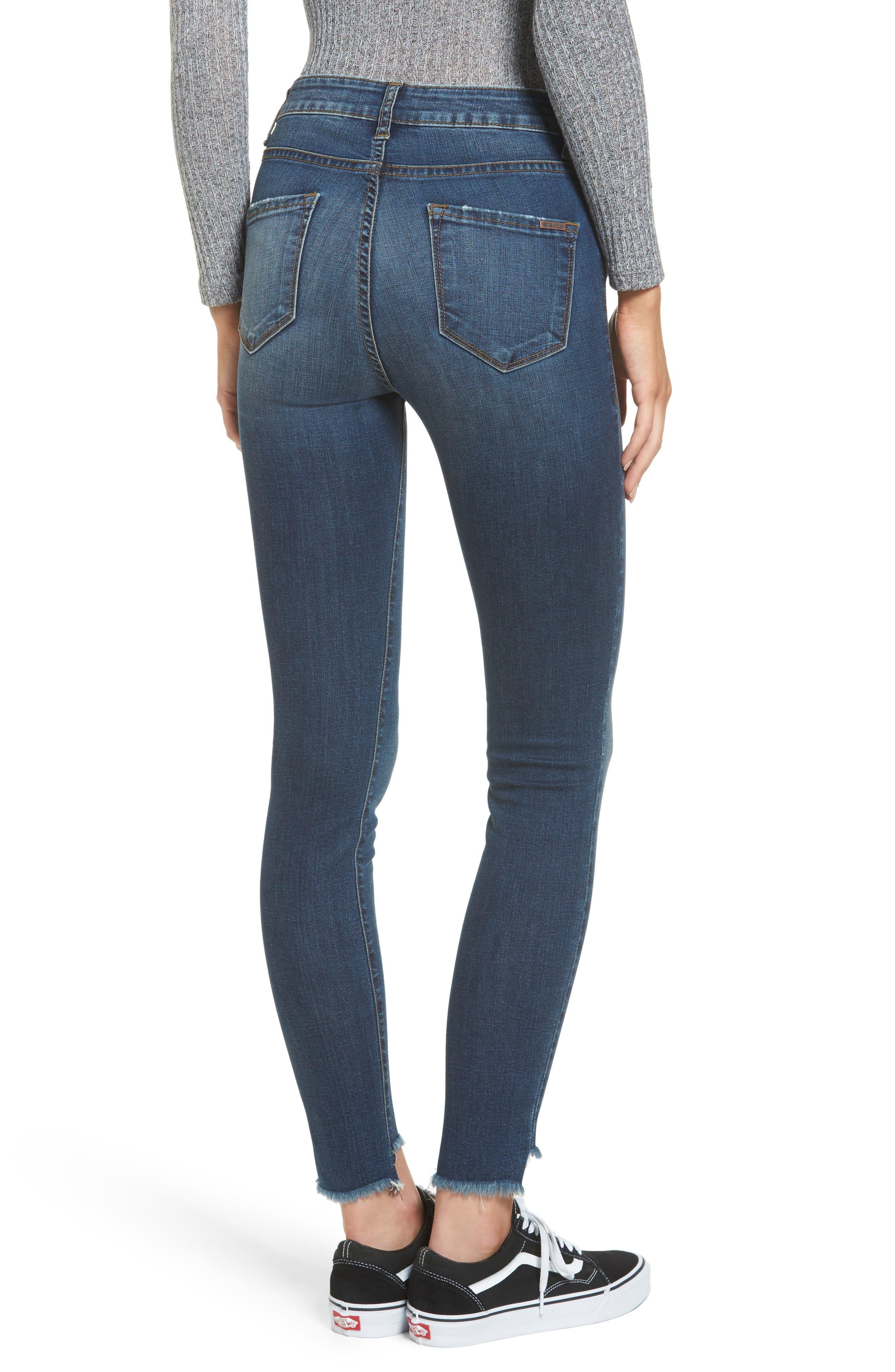 Ellie Step Hem Skinny Jeans,                             Alternate thumbnail 2, color,                             400
