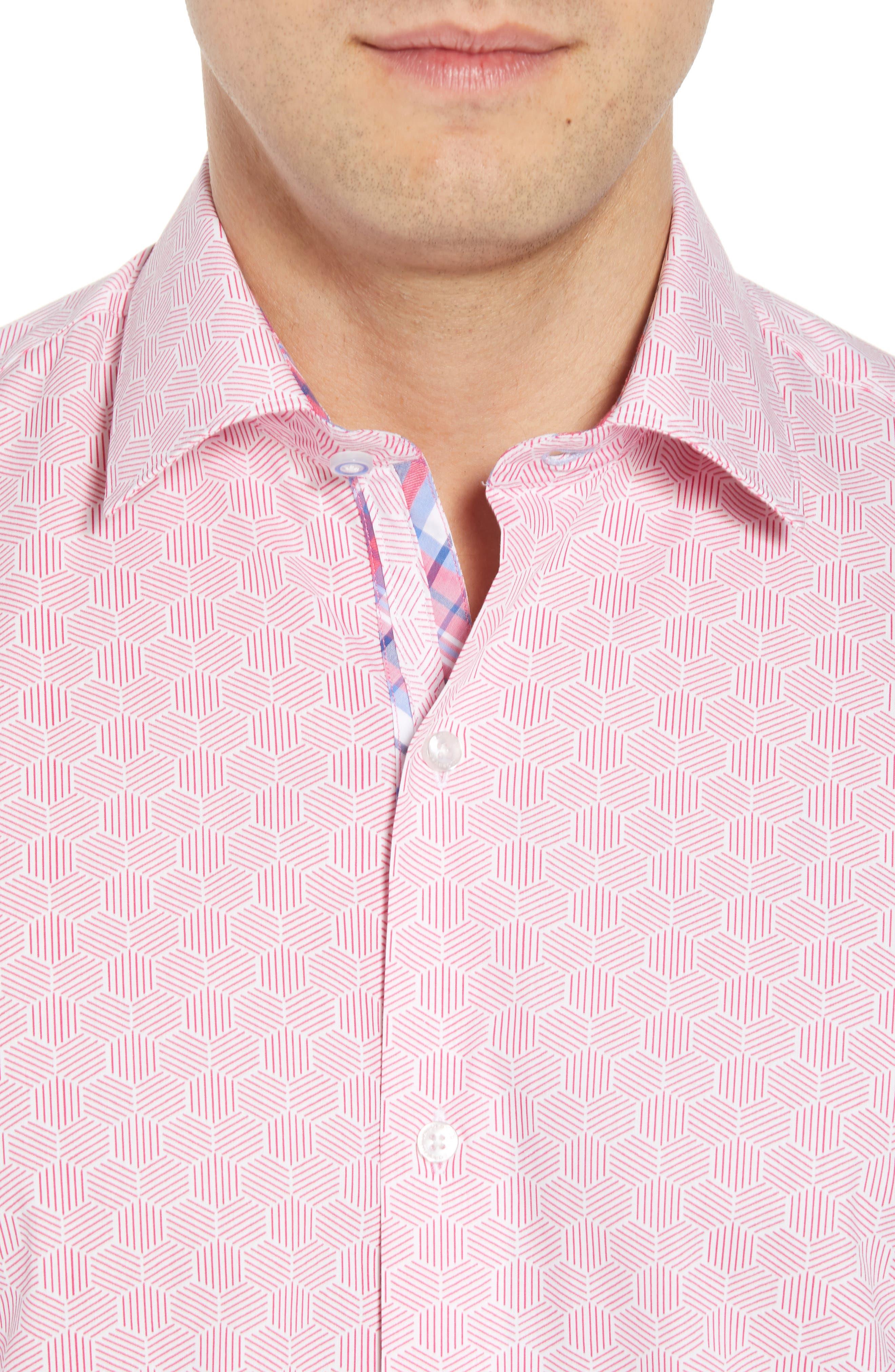 Averon Regular Fit Print Sport Shirt,                             Alternate thumbnail 4, color,                             650