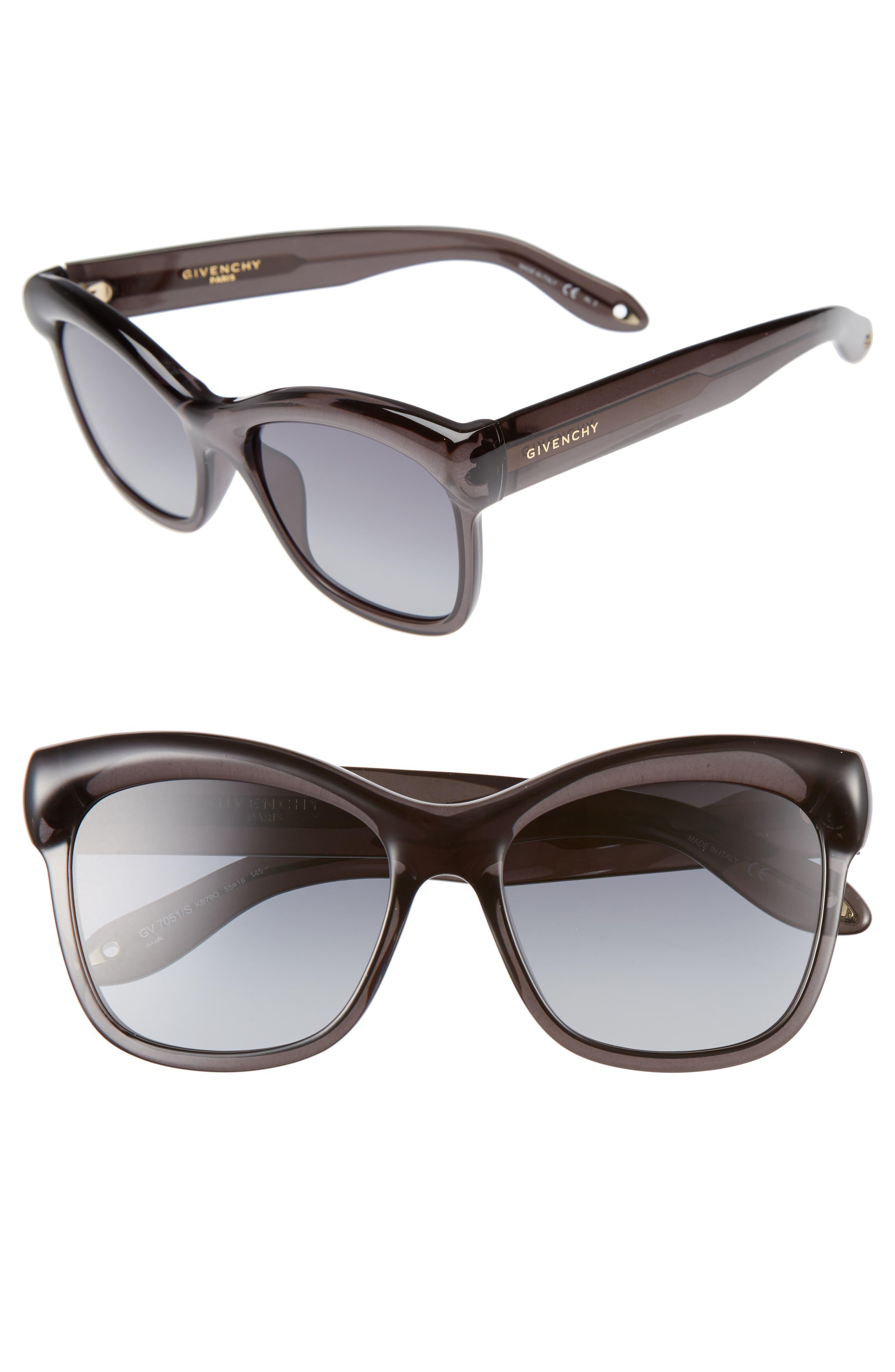 55mm Retro Sunglasses,                             Main thumbnail 1, color,                             020