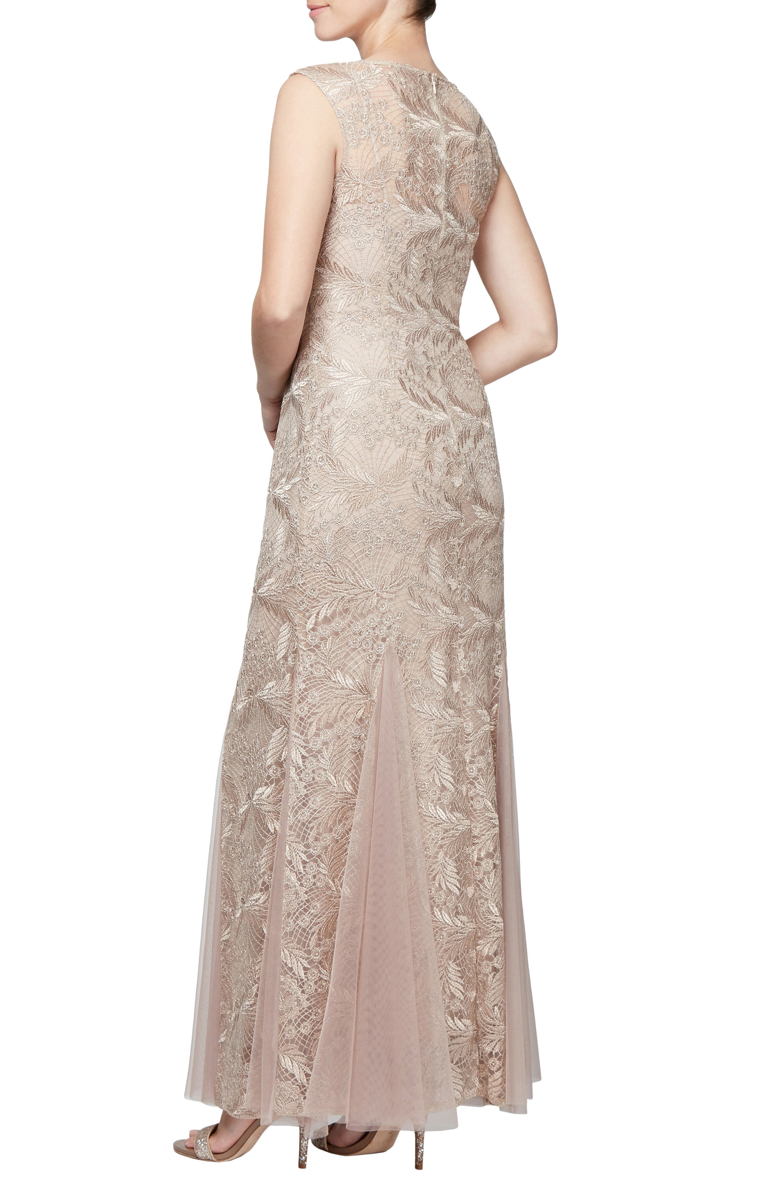 Embroidered Lace Gown,                             Alternate thumbnail 2, color,                             250
