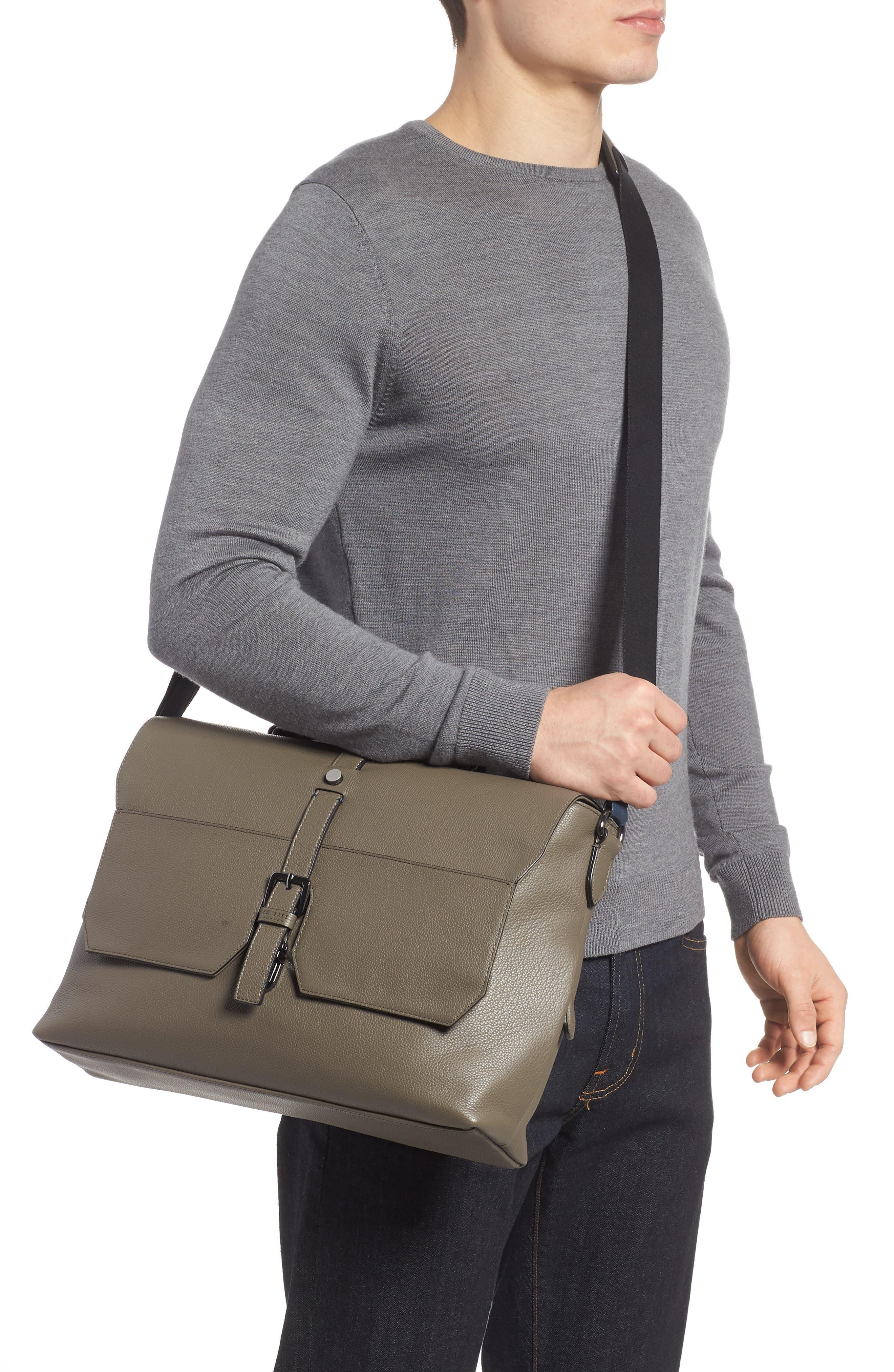 Ted Baker Sandune Leather Messenger Bag,                             Alternate thumbnail 2, color,                             030