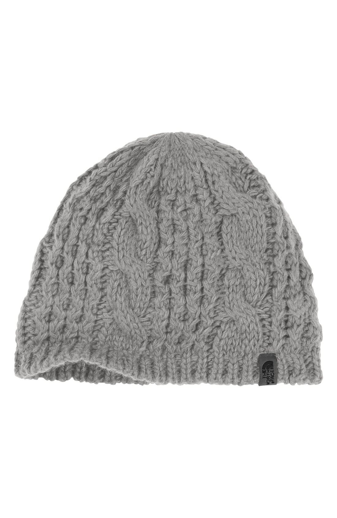'Minna' Cable Knit Beanie,                             Main thumbnail 5, color,