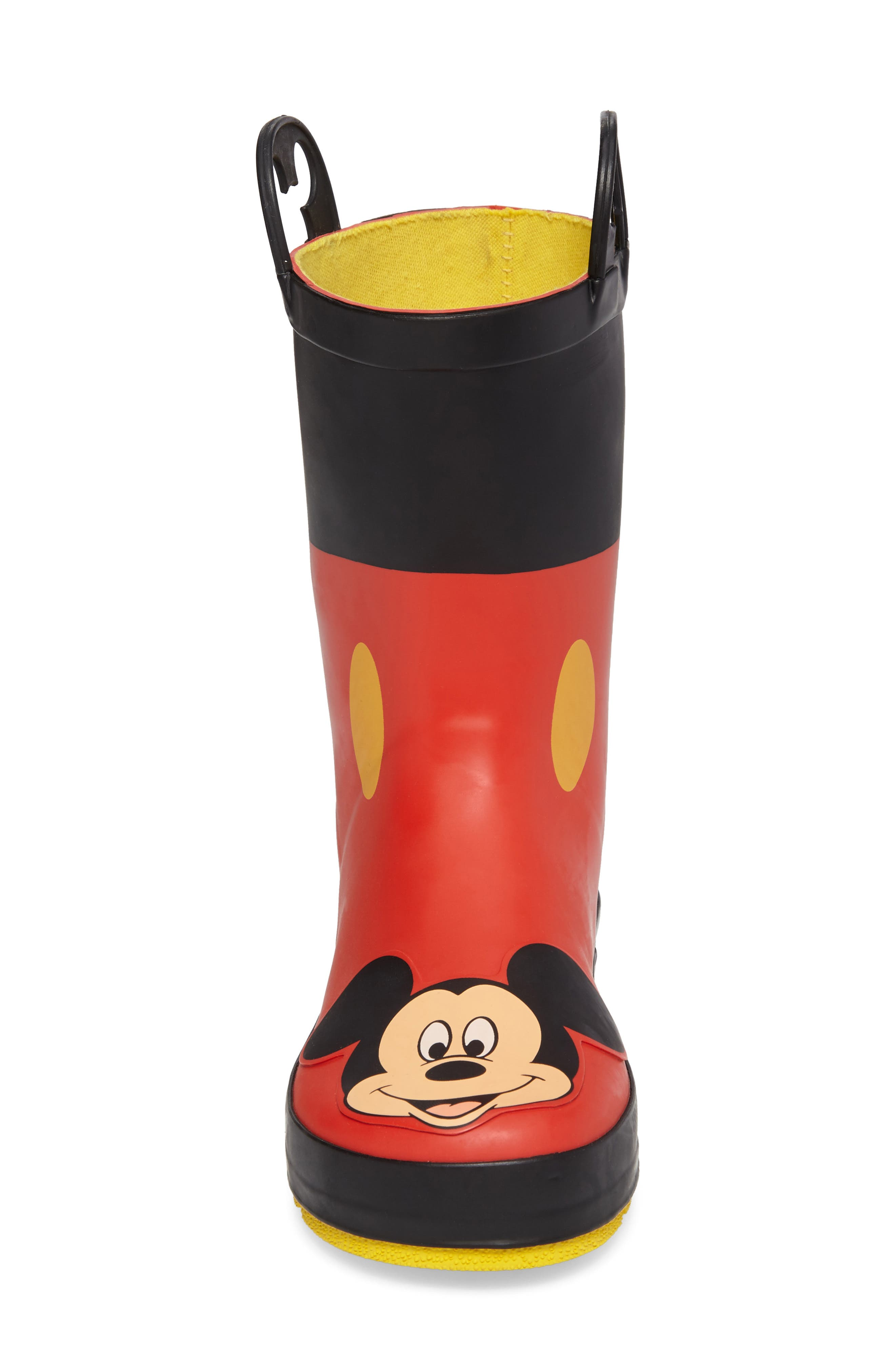 Mickey Mouse Rain Boot,                             Alternate thumbnail 4, color,                             RED