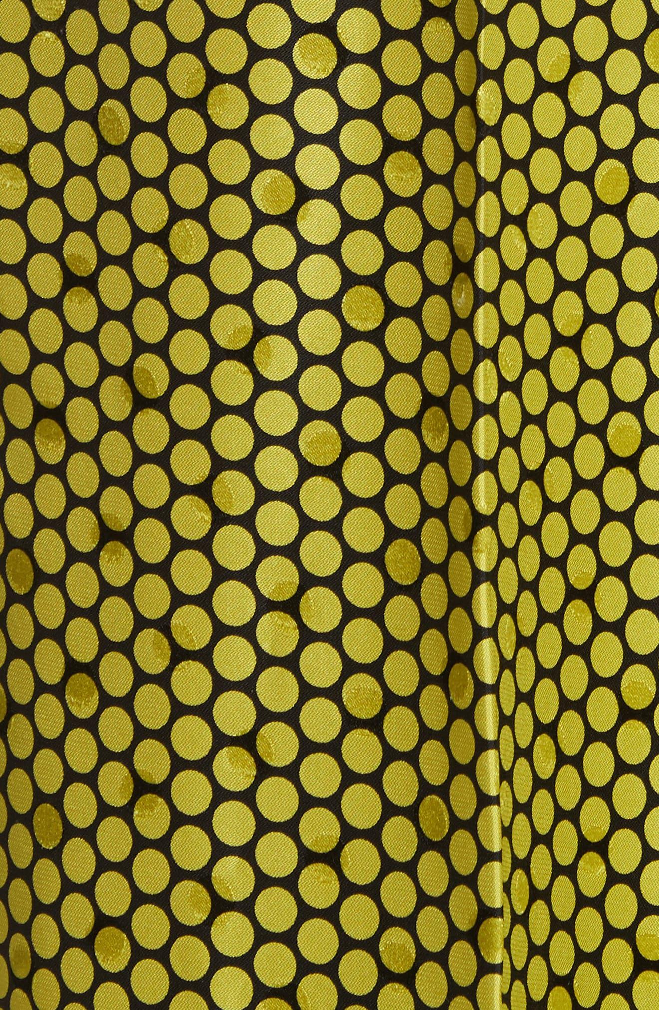 Diane von Furstenberg Dot Silk Palazzo Pants,                             Alternate thumbnail 5, color,                             390