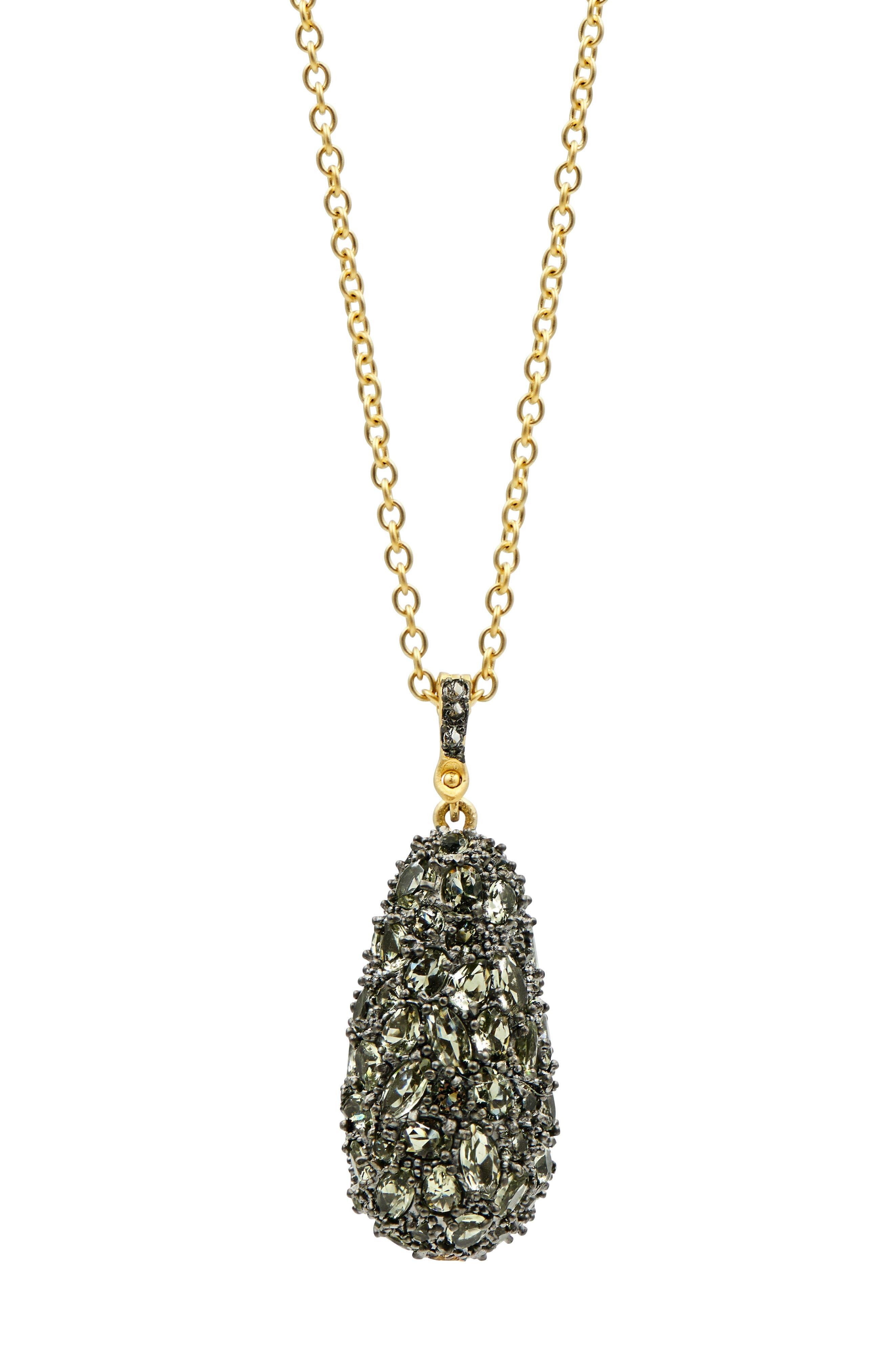 Pebblestone Long Pendant Necklace,                             Alternate thumbnail 3, color,                             710