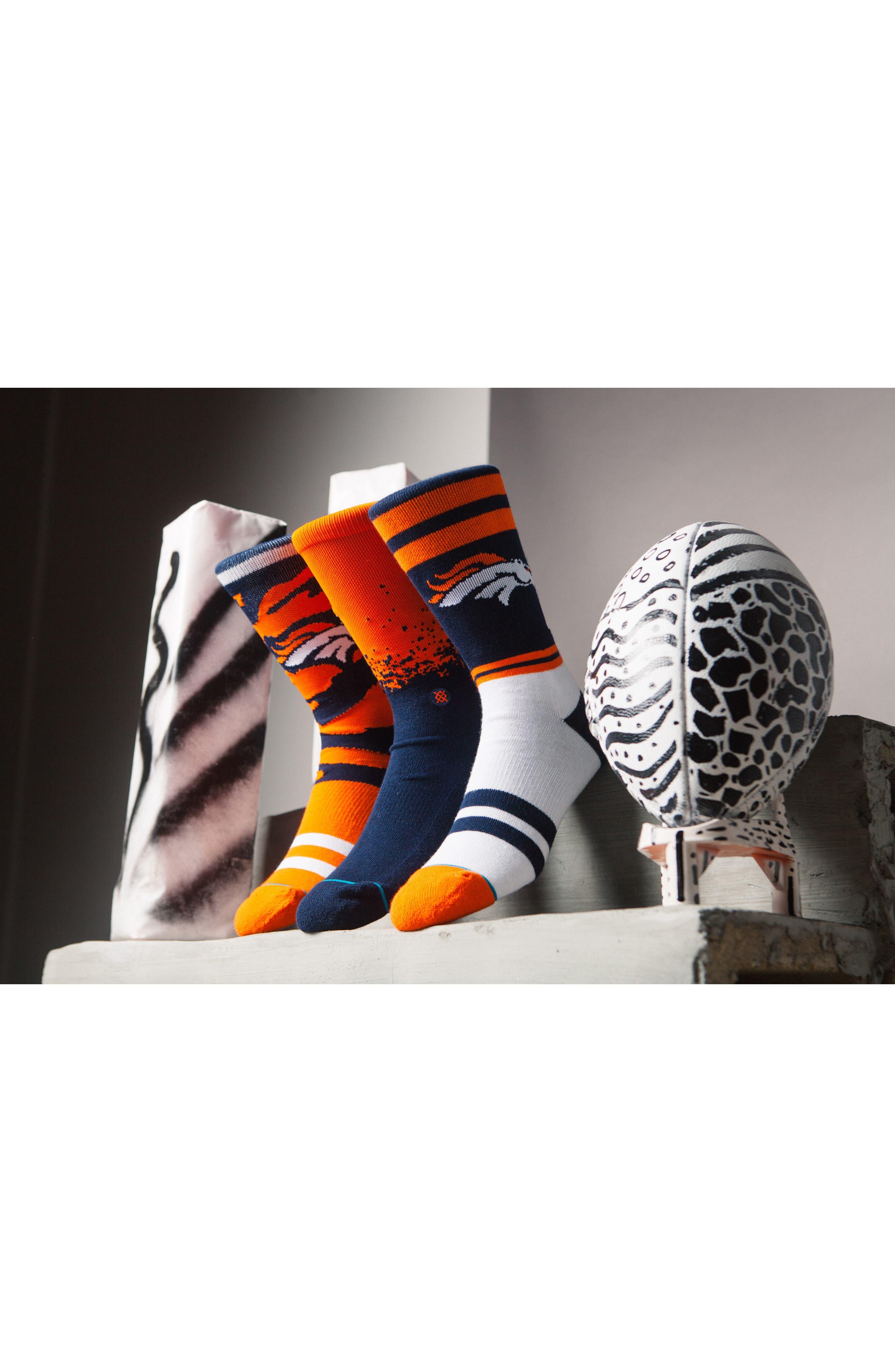 Denver Broncos - Fade Socks,                             Alternate thumbnail 6, color,                             410
