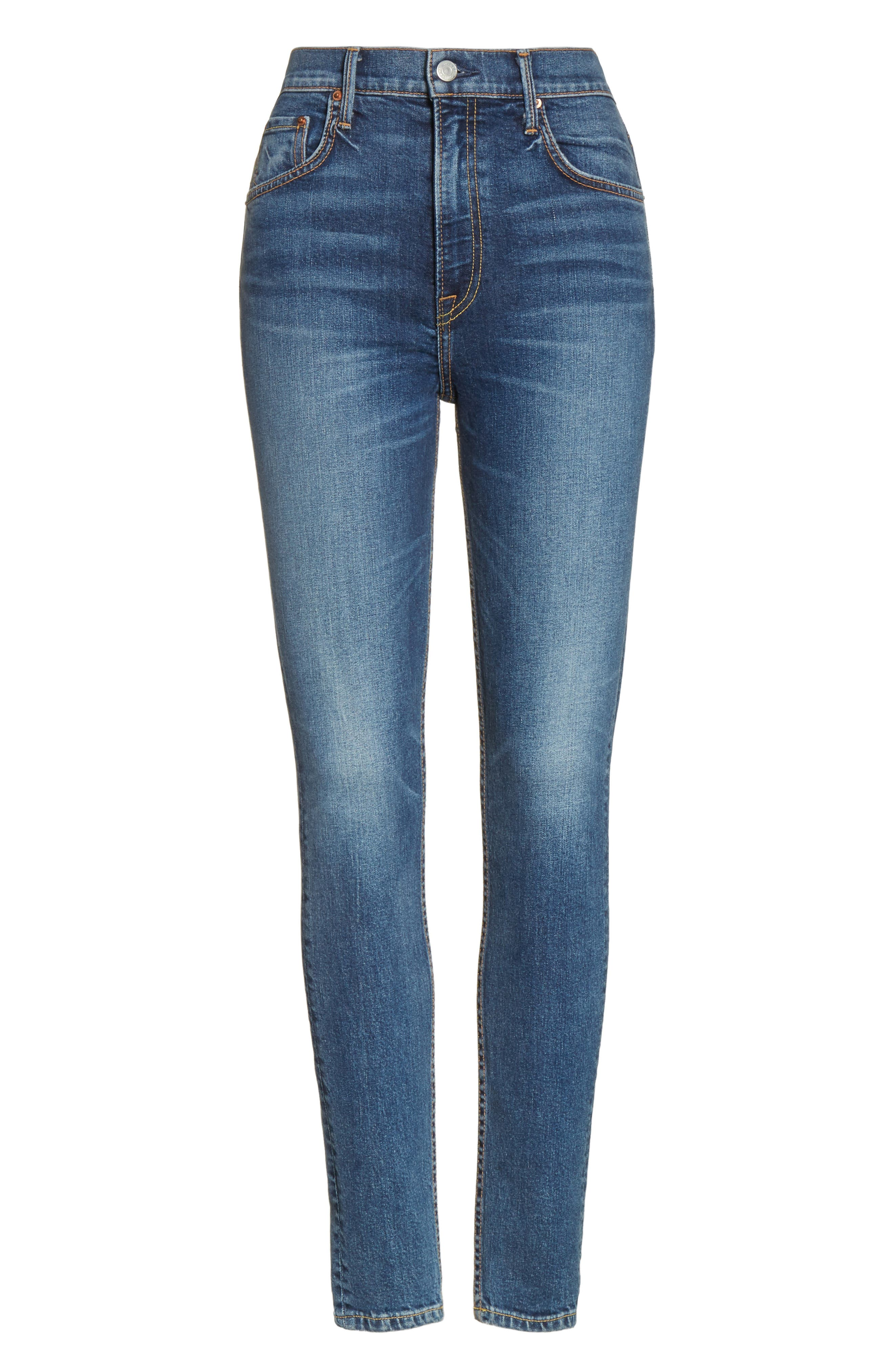 Kendall Super Stretch High Waist Skinny Jeans,                             Alternate thumbnail 6, color,                             NO MORE TEARS