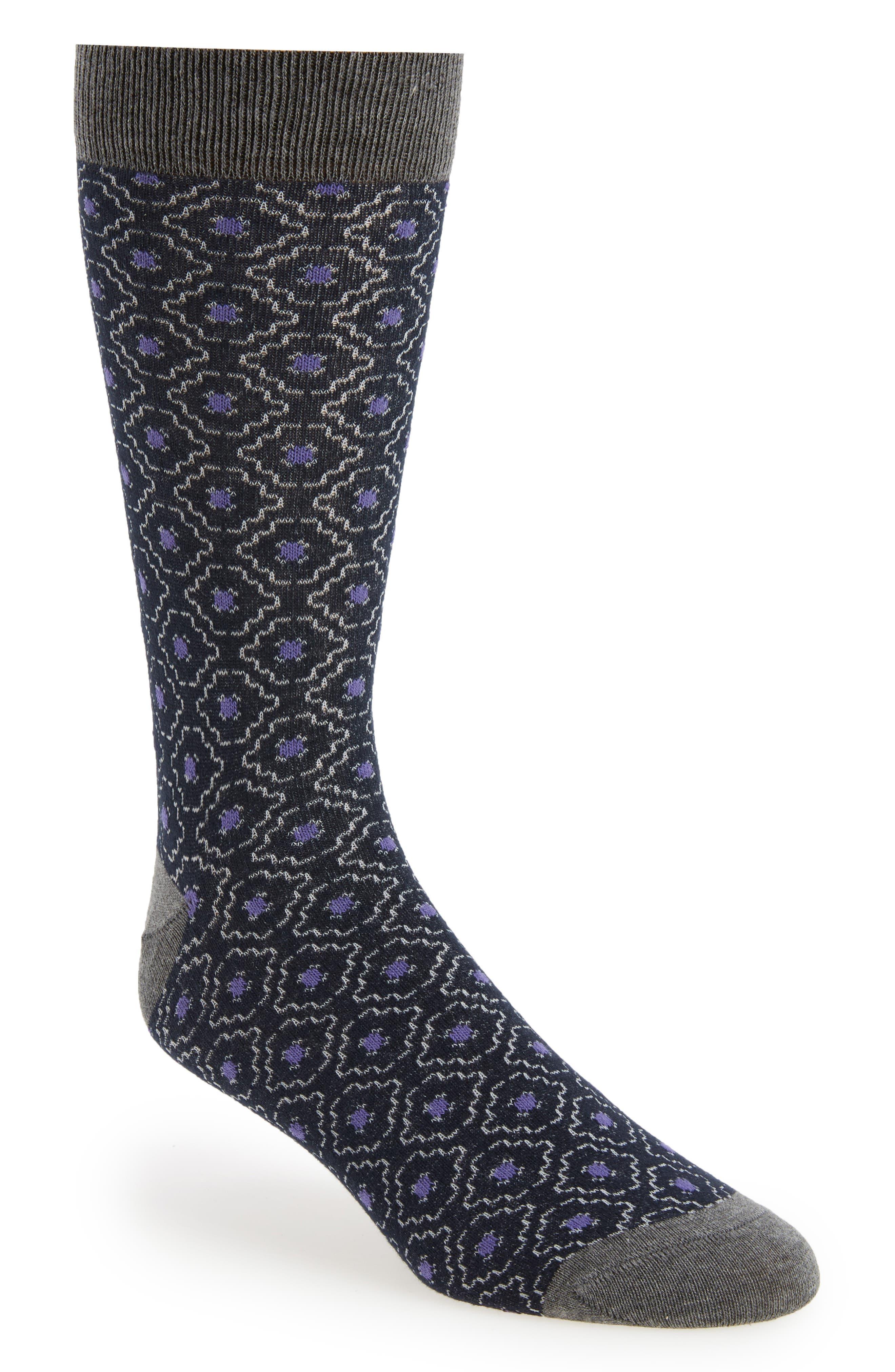 Norzec Geometric Sock,                             Main thumbnail 4, color,