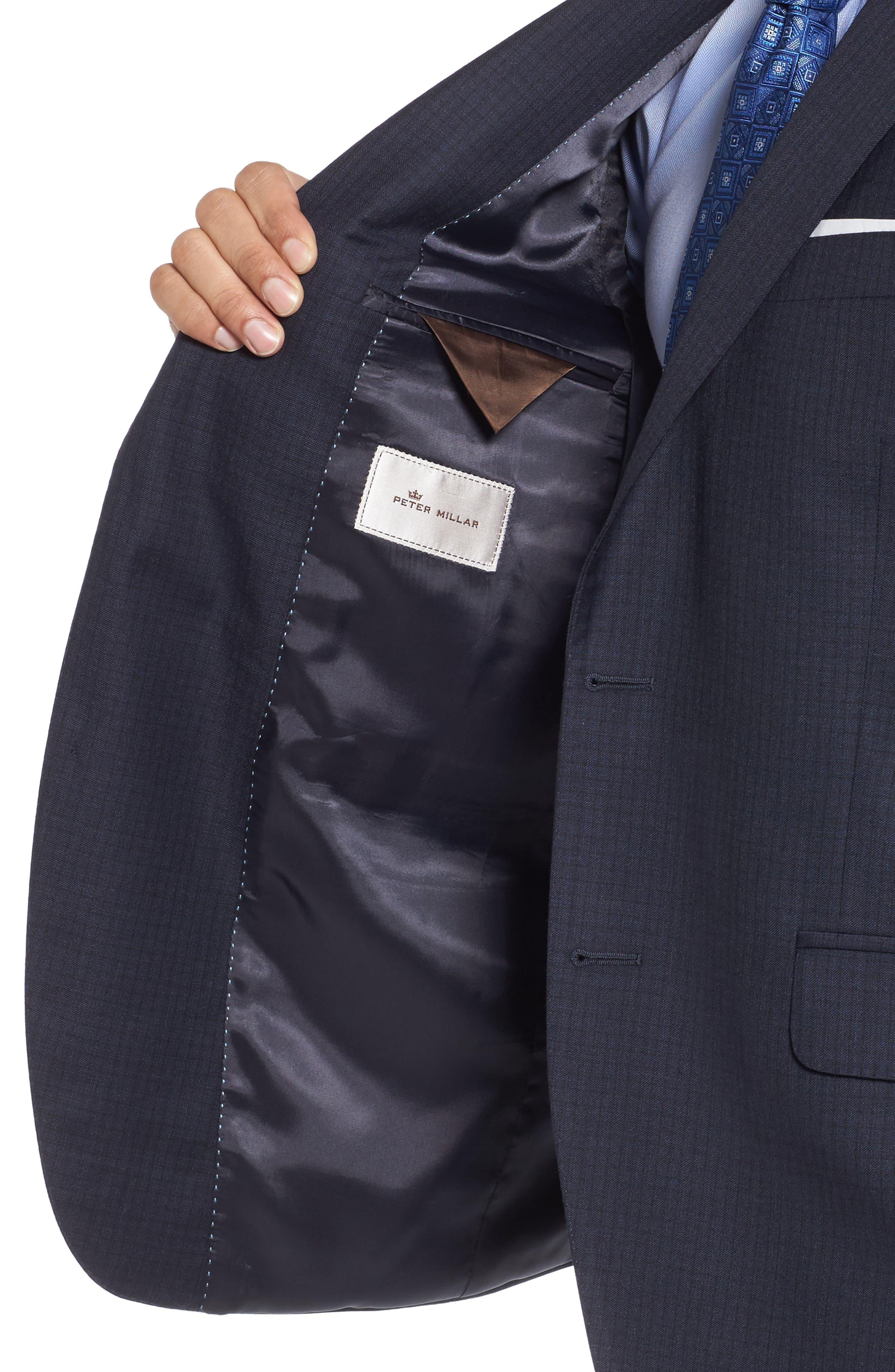 Classic Fit Check Wool Suit,                             Alternate thumbnail 4, color,                             410