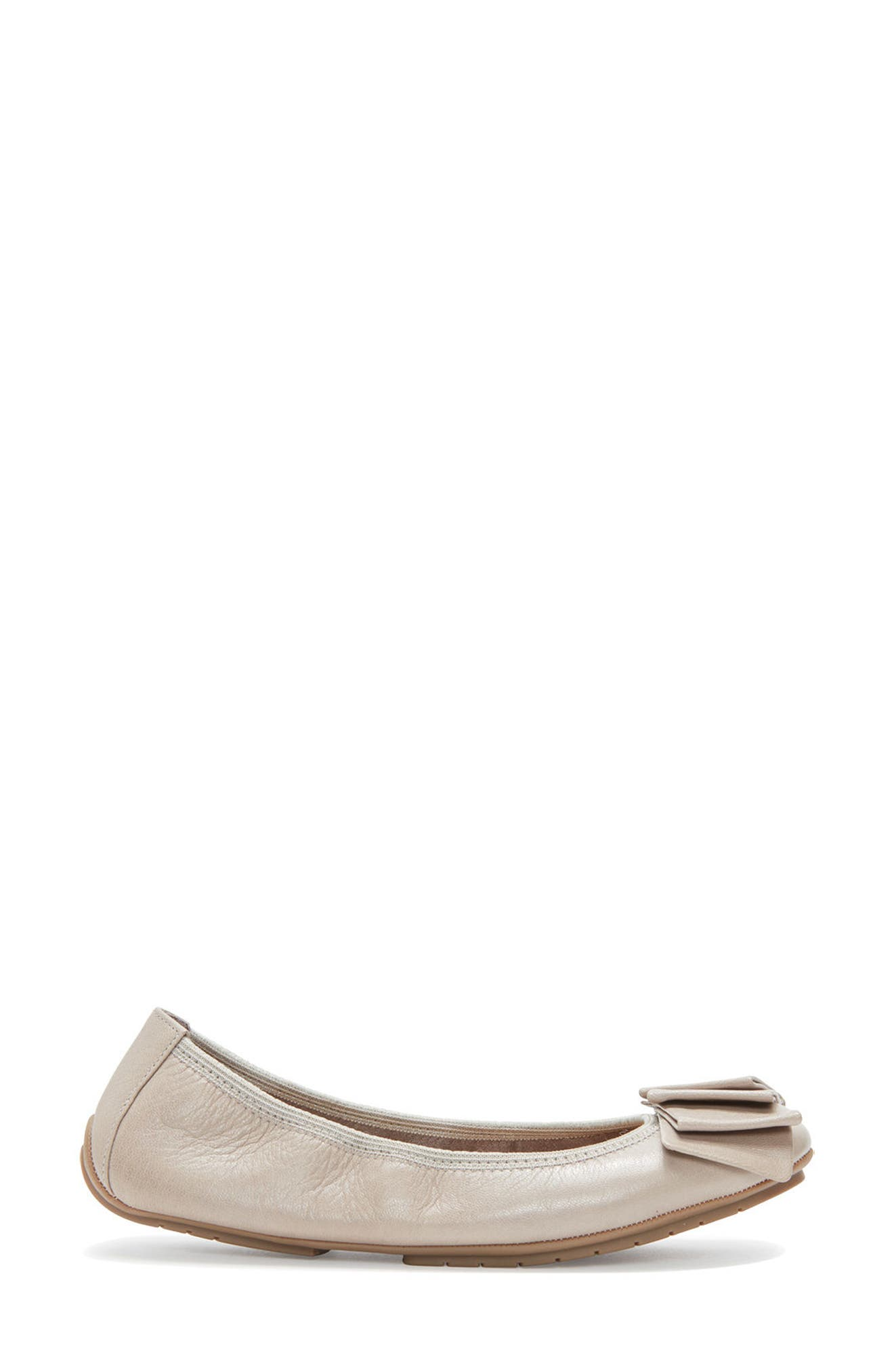 'Lilyana 2.0' Flat,                             Alternate thumbnail 3, color,                             LIGHT GREY LEATHER