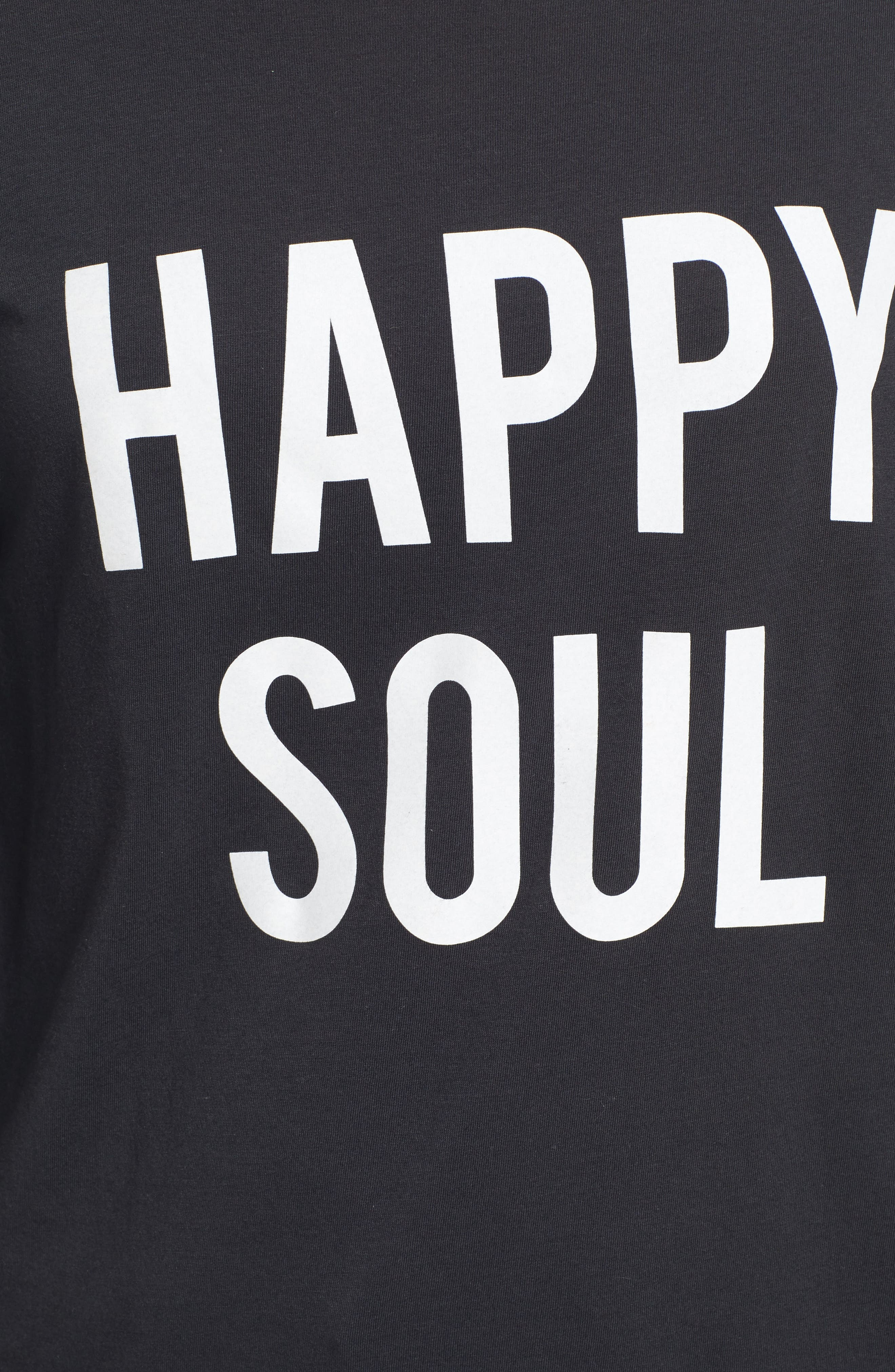 Happy Soul Long Sleeve Tee,                             Alternate thumbnail 5, color,                             001