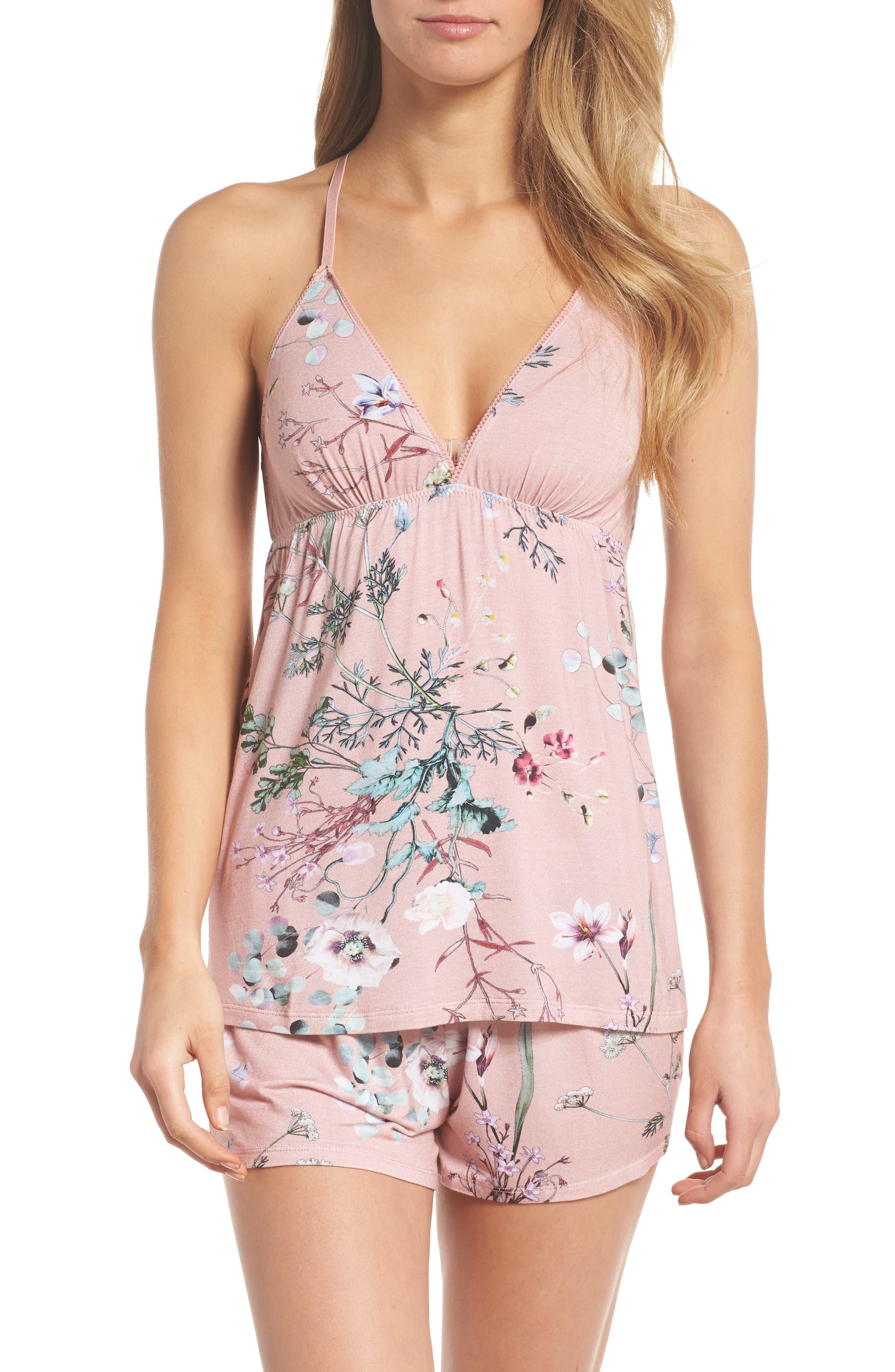 Floral Print Camisole Pajama Set,                         Main,                         color, 953