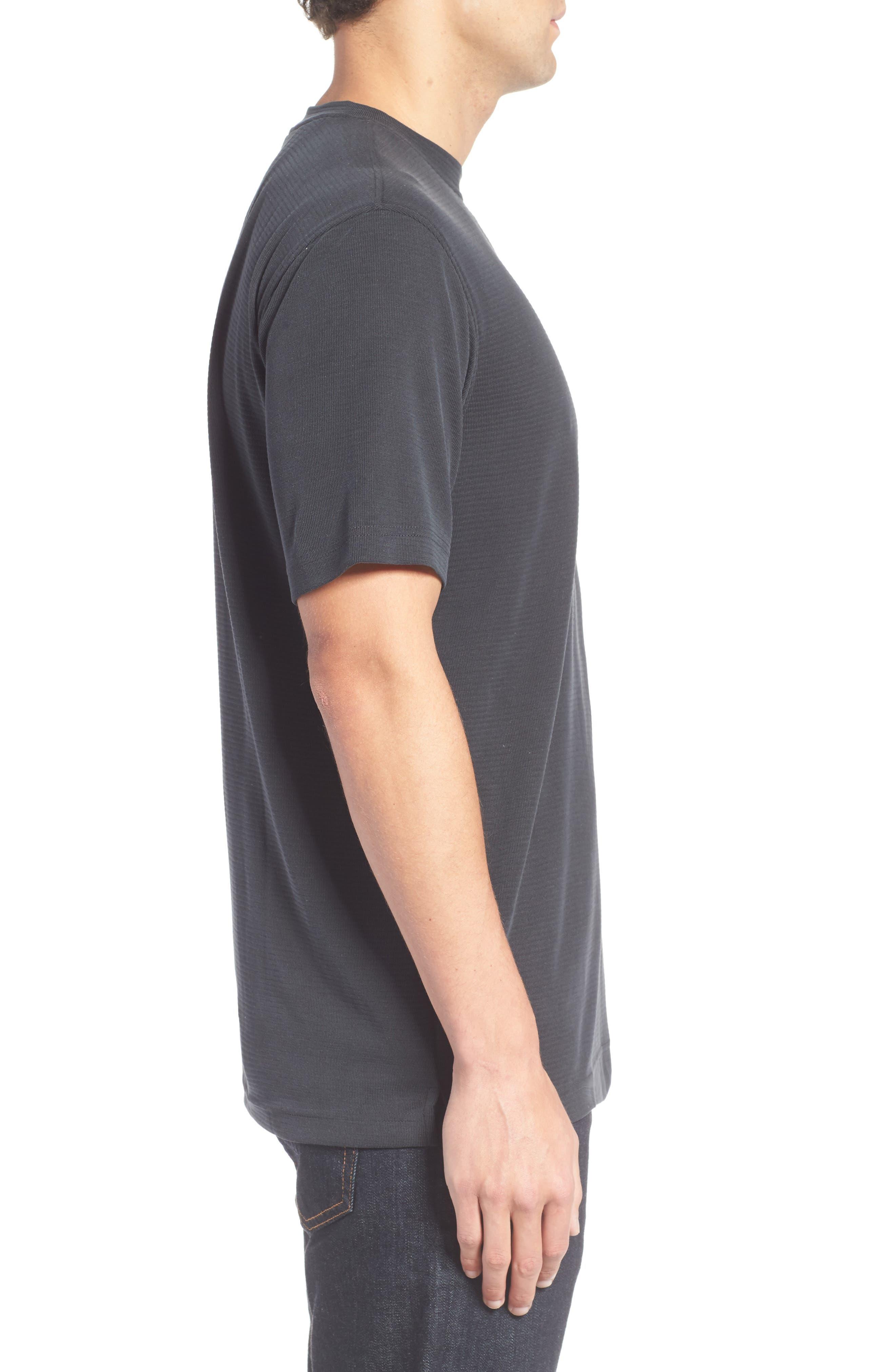 Crewneck T-Shirt,                             Alternate thumbnail 3, color,                             001