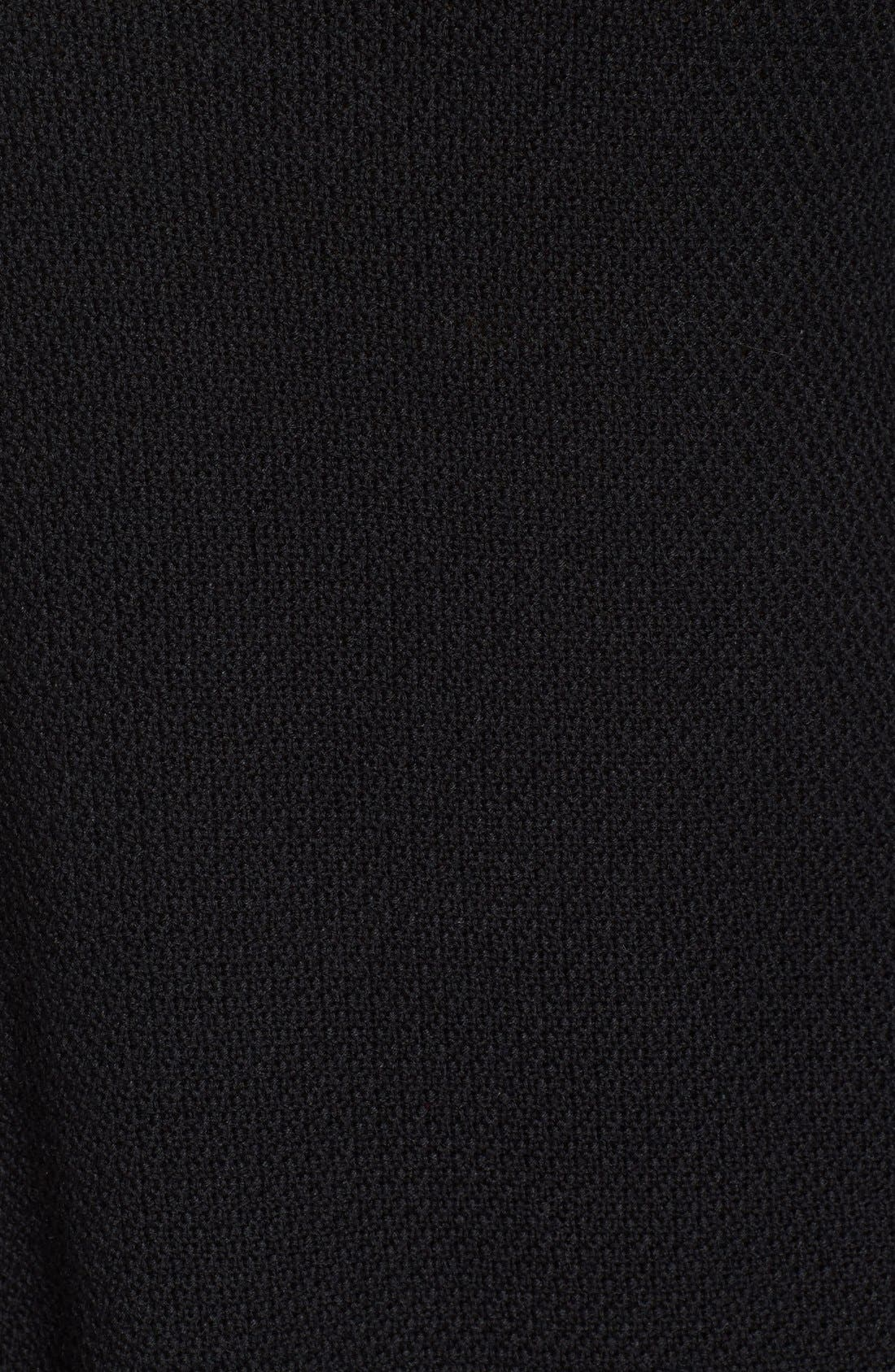 Texture Knit Tunic,                             Alternate thumbnail 5, color,                             BLACK