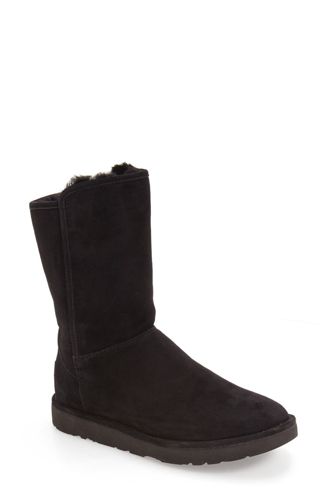 Abree II Short Boot,                             Main thumbnail 1, color,                             NERO SUEDE