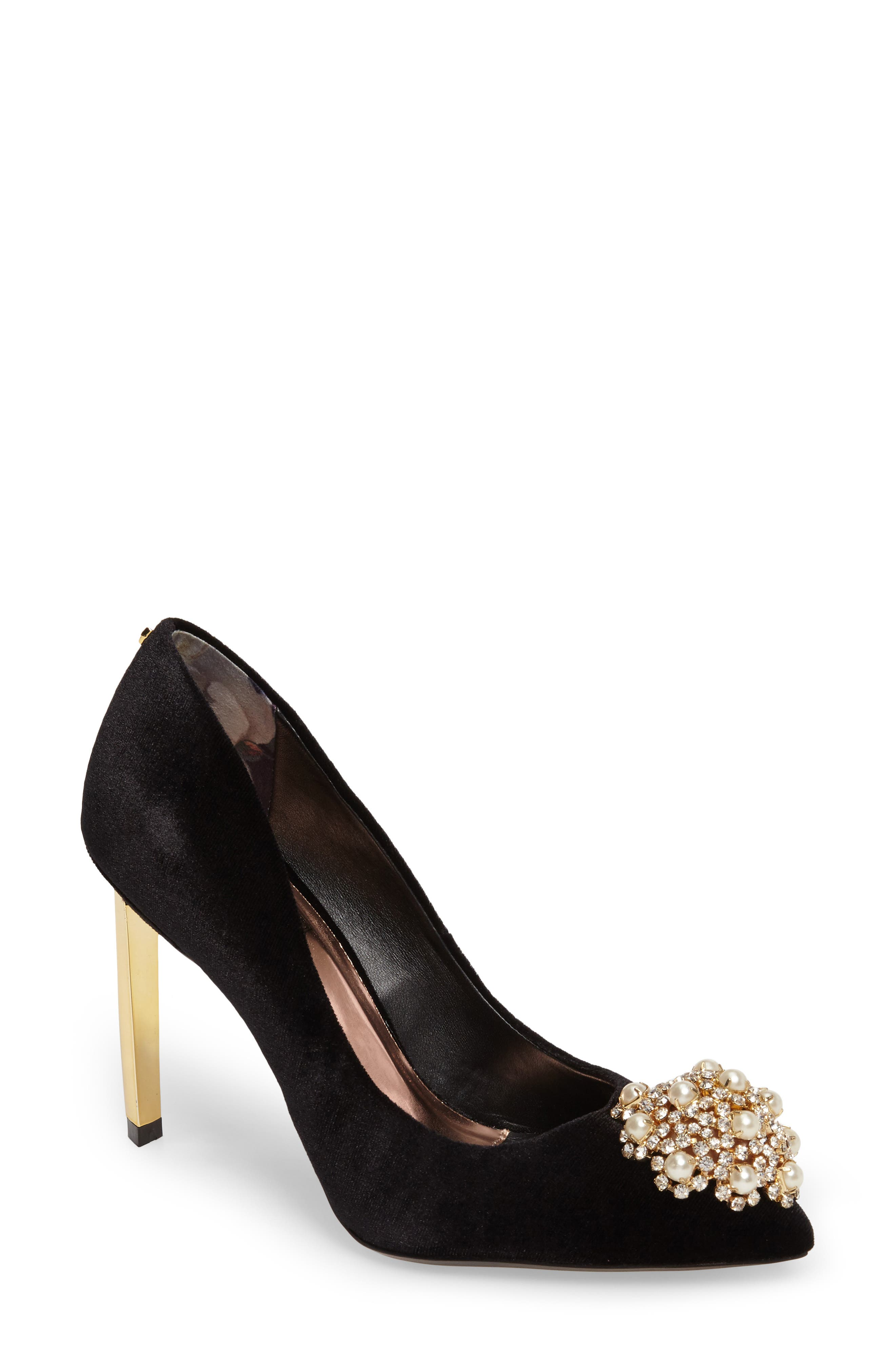 'Peetch' Pointy Toe Pump,                             Main thumbnail 4, color,