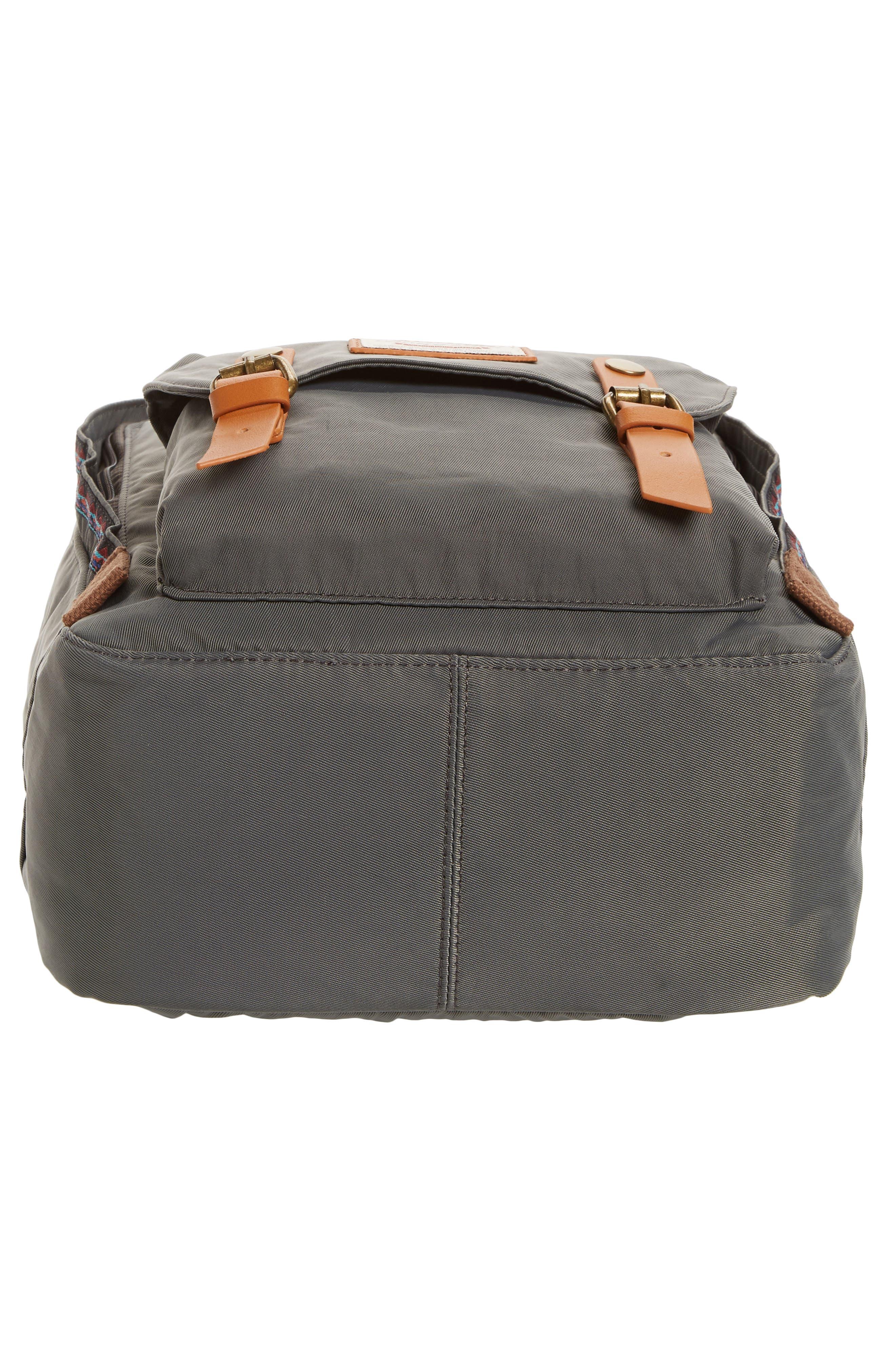 Macaroon Bo-He Water Resistant Backpack,                             Alternate thumbnail 6, color,                             CHARCOAL
