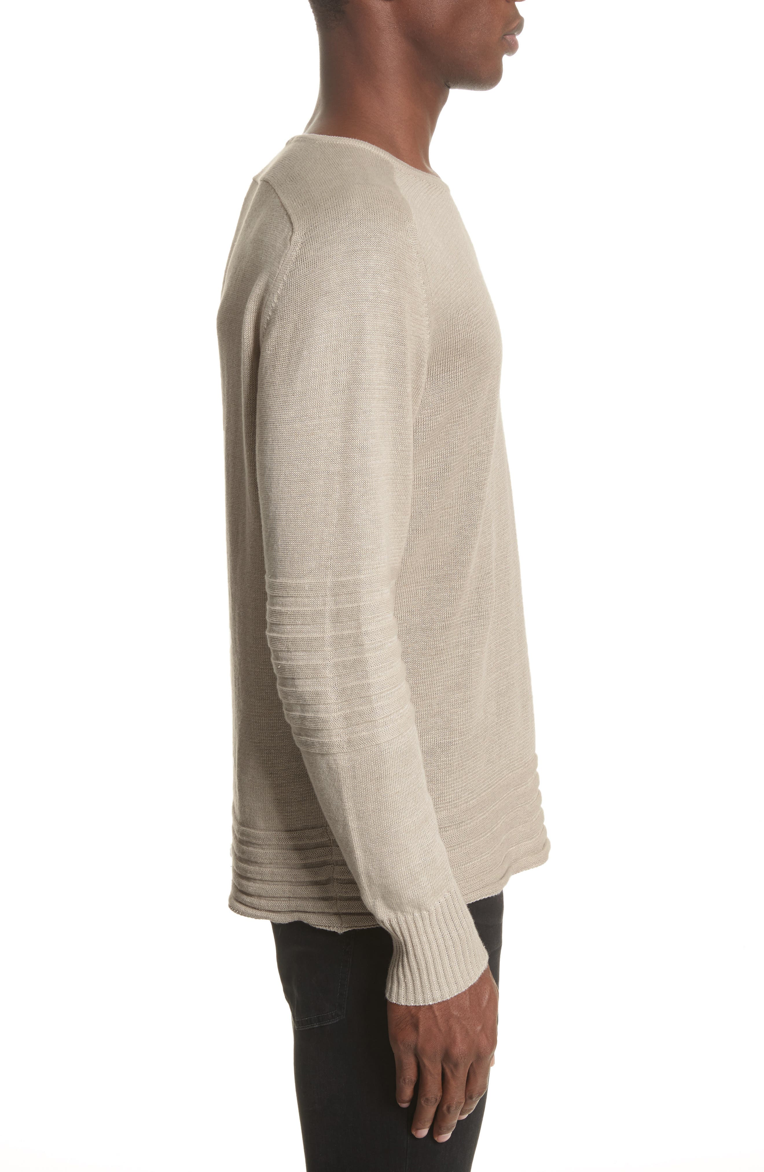 Exford Linen Crewneck Sweater,                             Alternate thumbnail 5, color,