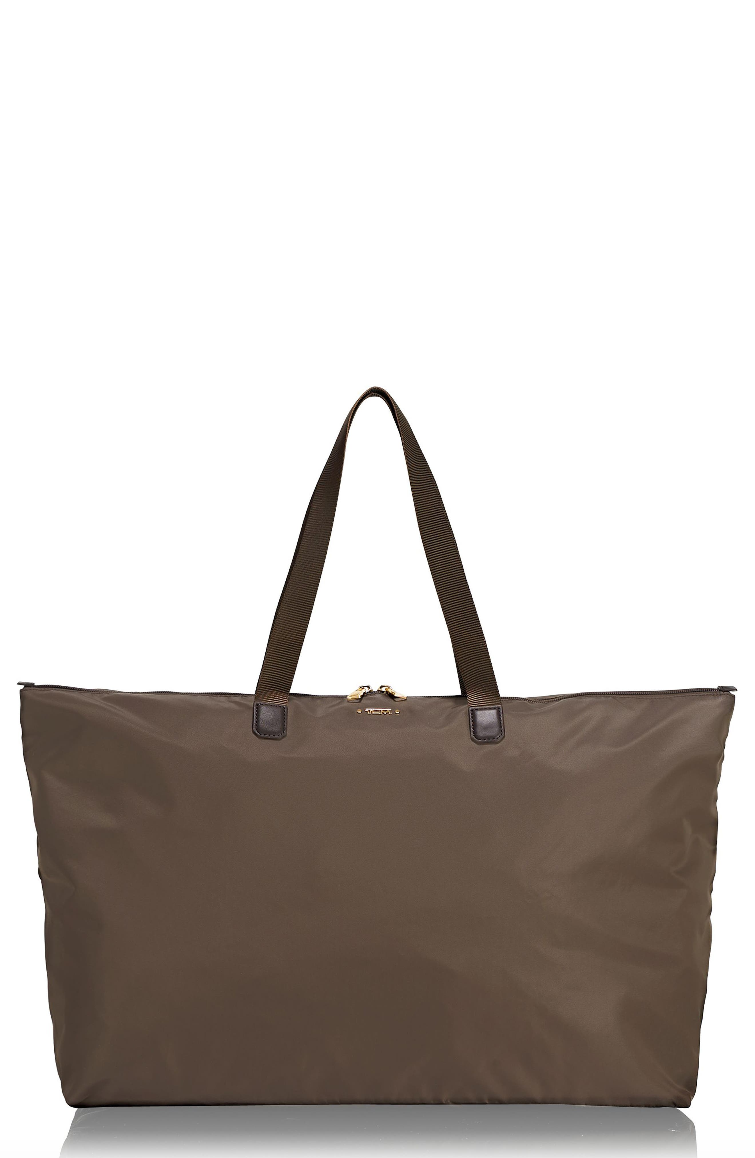TUMI Voyageur Just In Case Packable Nylon Tote - Brown in Mink