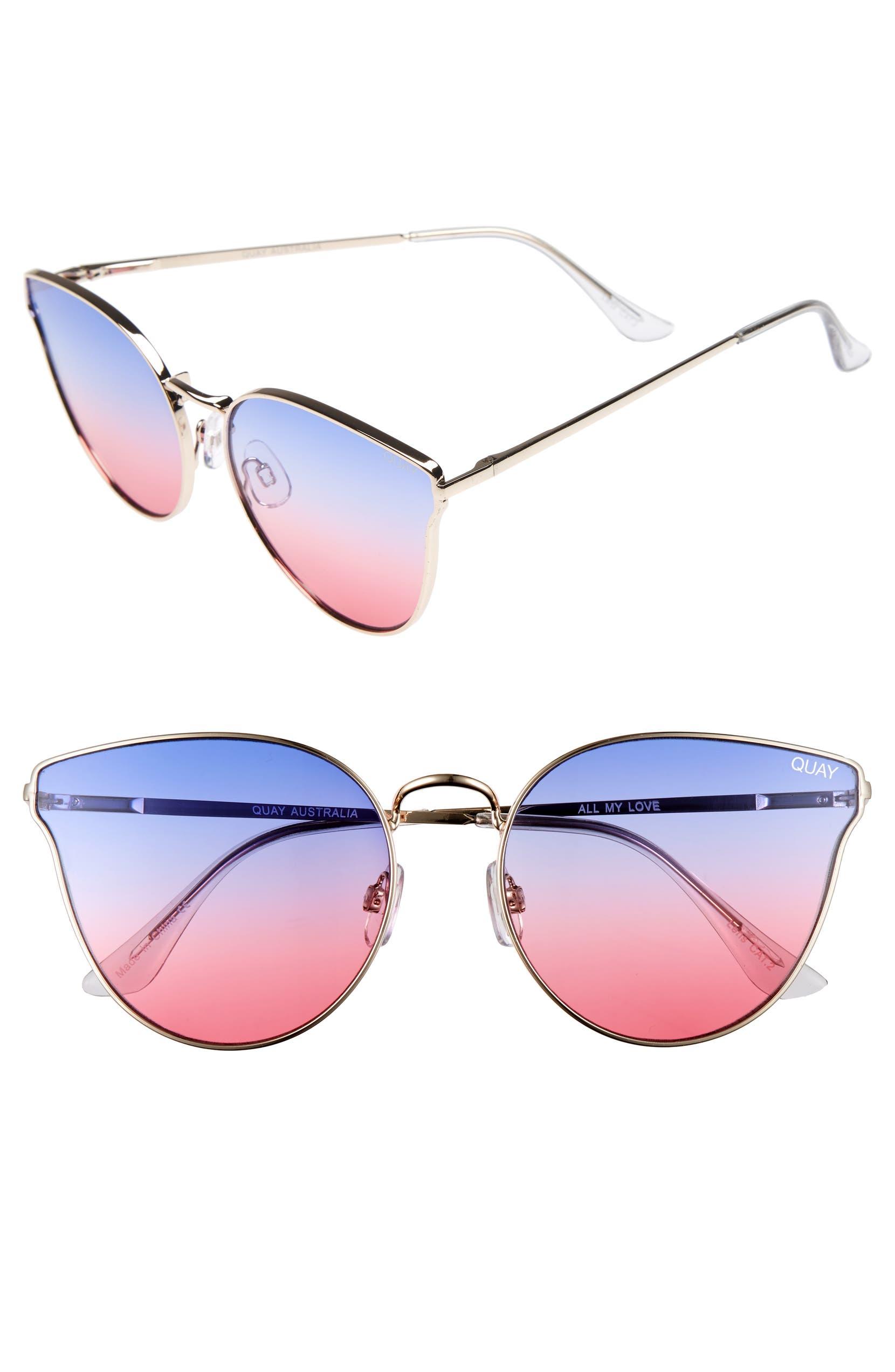 bfd3546b37 Quay Australia  All My Love  60mm Retro Sunglasses