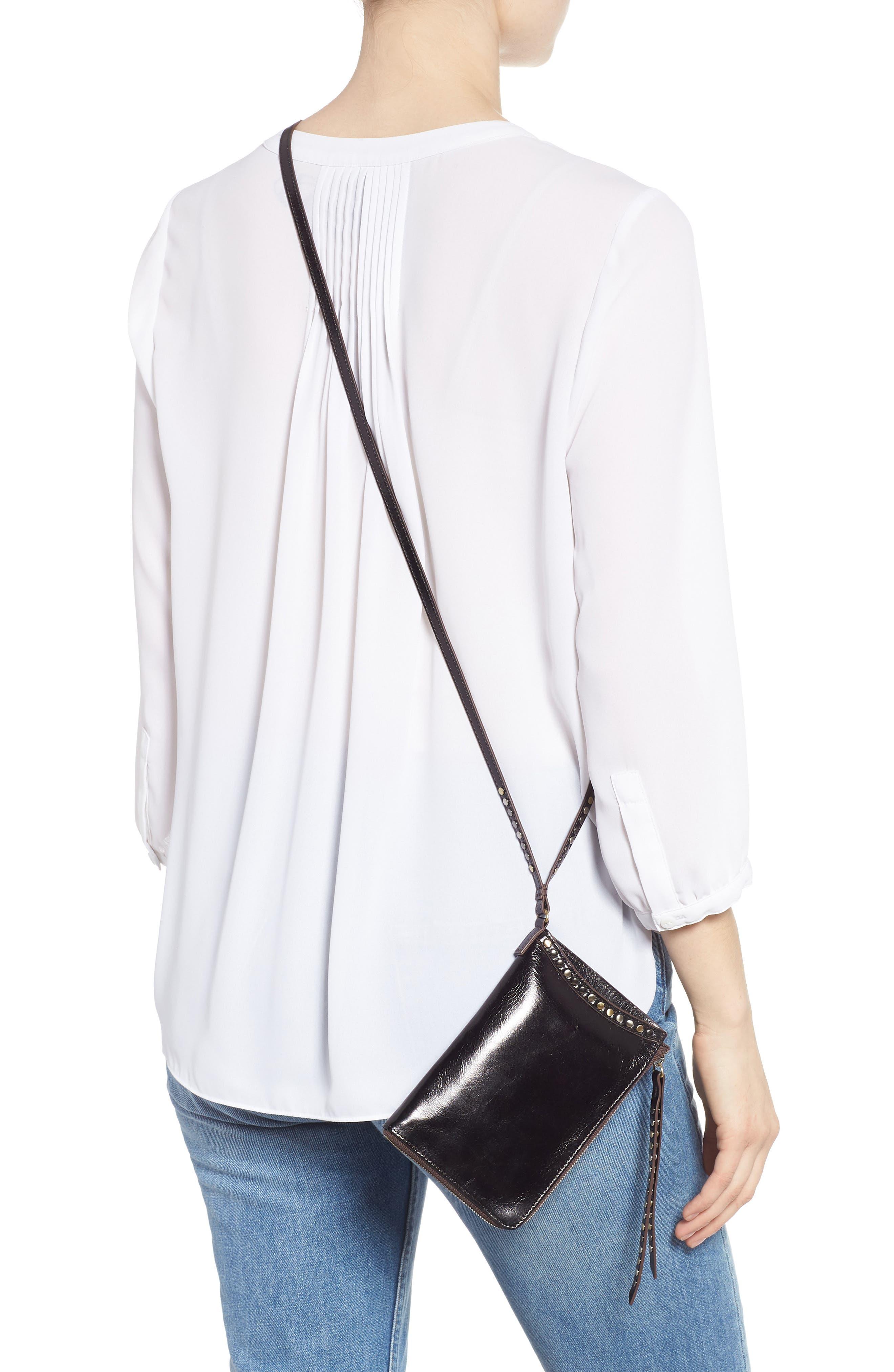 HOBO,                             Moxie Leather Crossbody Bag,                             Alternate thumbnail 2, color,                             BLACK