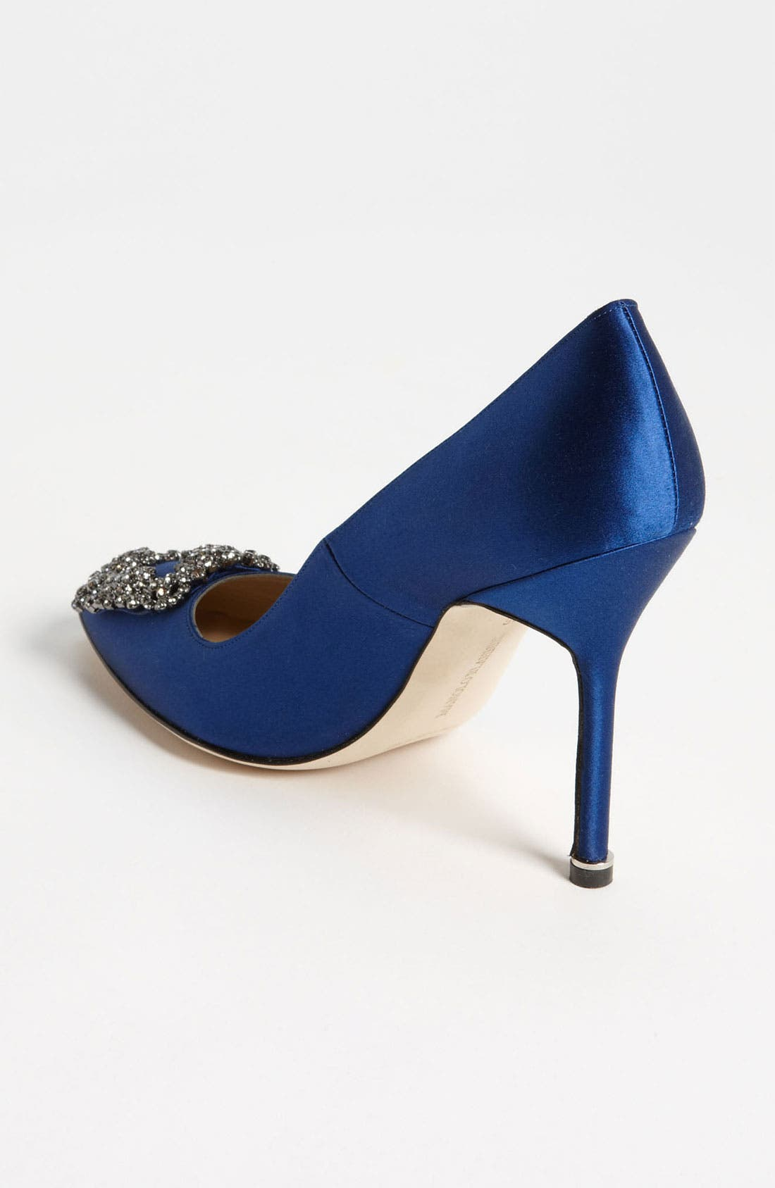 'Hangisi' Jewel Pump,                             Alternate thumbnail 3, color,                             BLUE SATIN