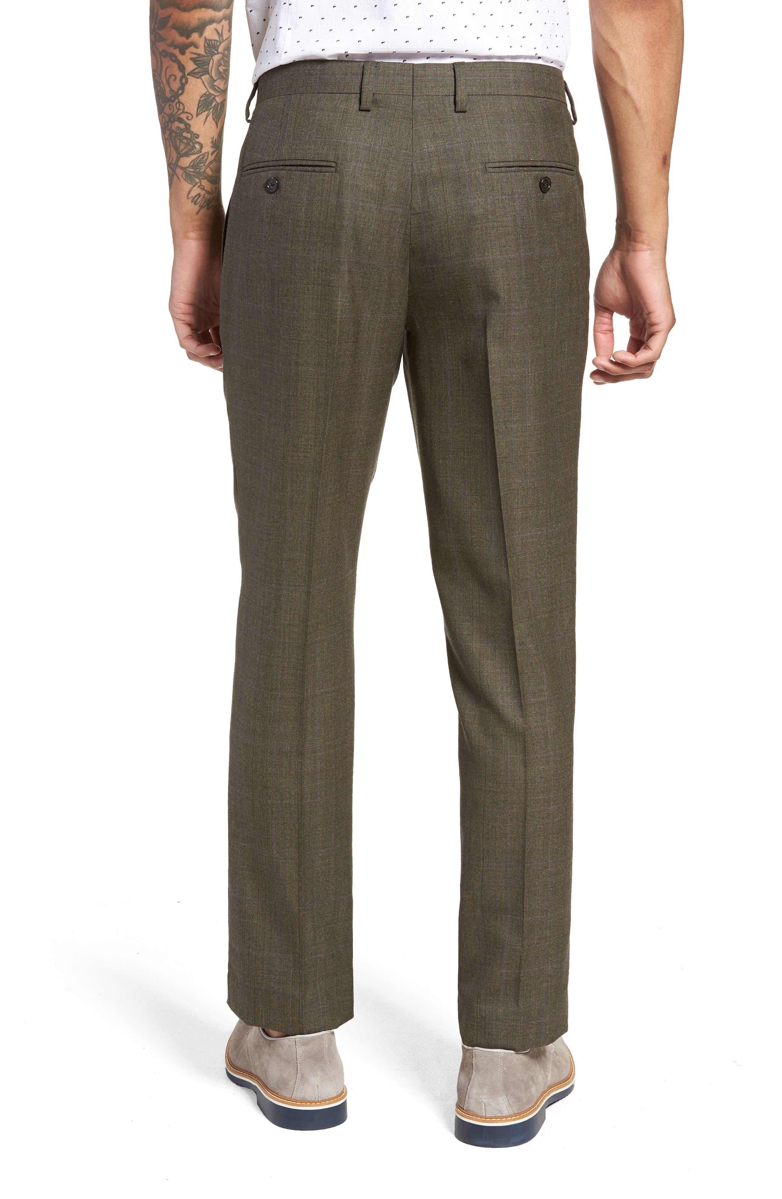 Ludlow Trim Fit Herringbone Wool Pants,                             Alternate thumbnail 2, color,                             300