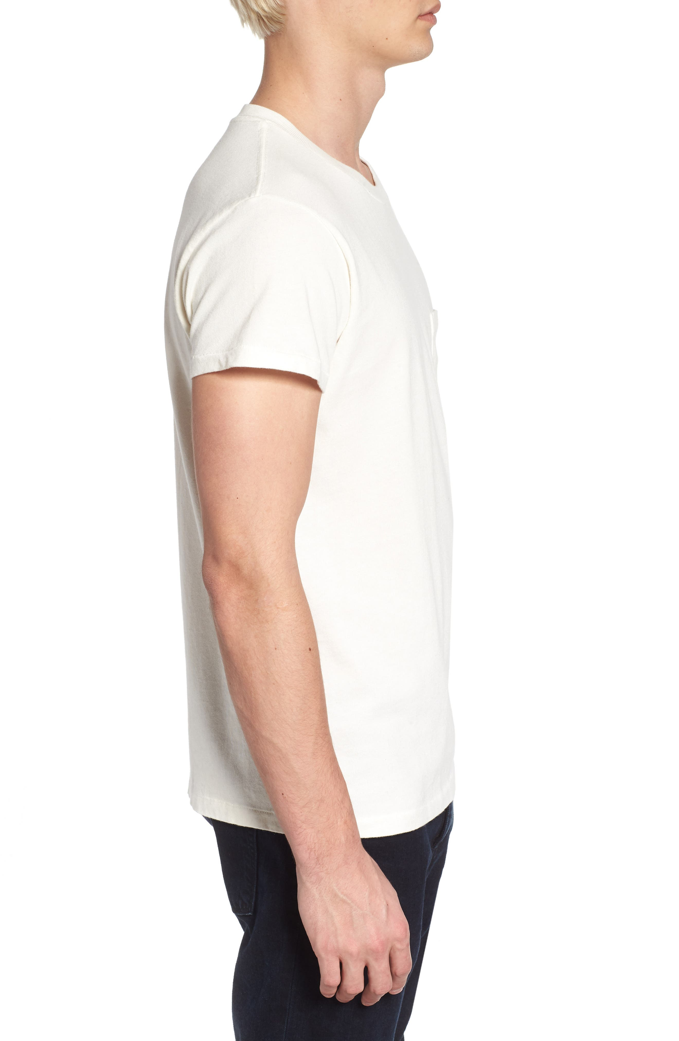 1950s Sportswear Pocket T-Shirt,                             Alternate thumbnail 3, color,                             100