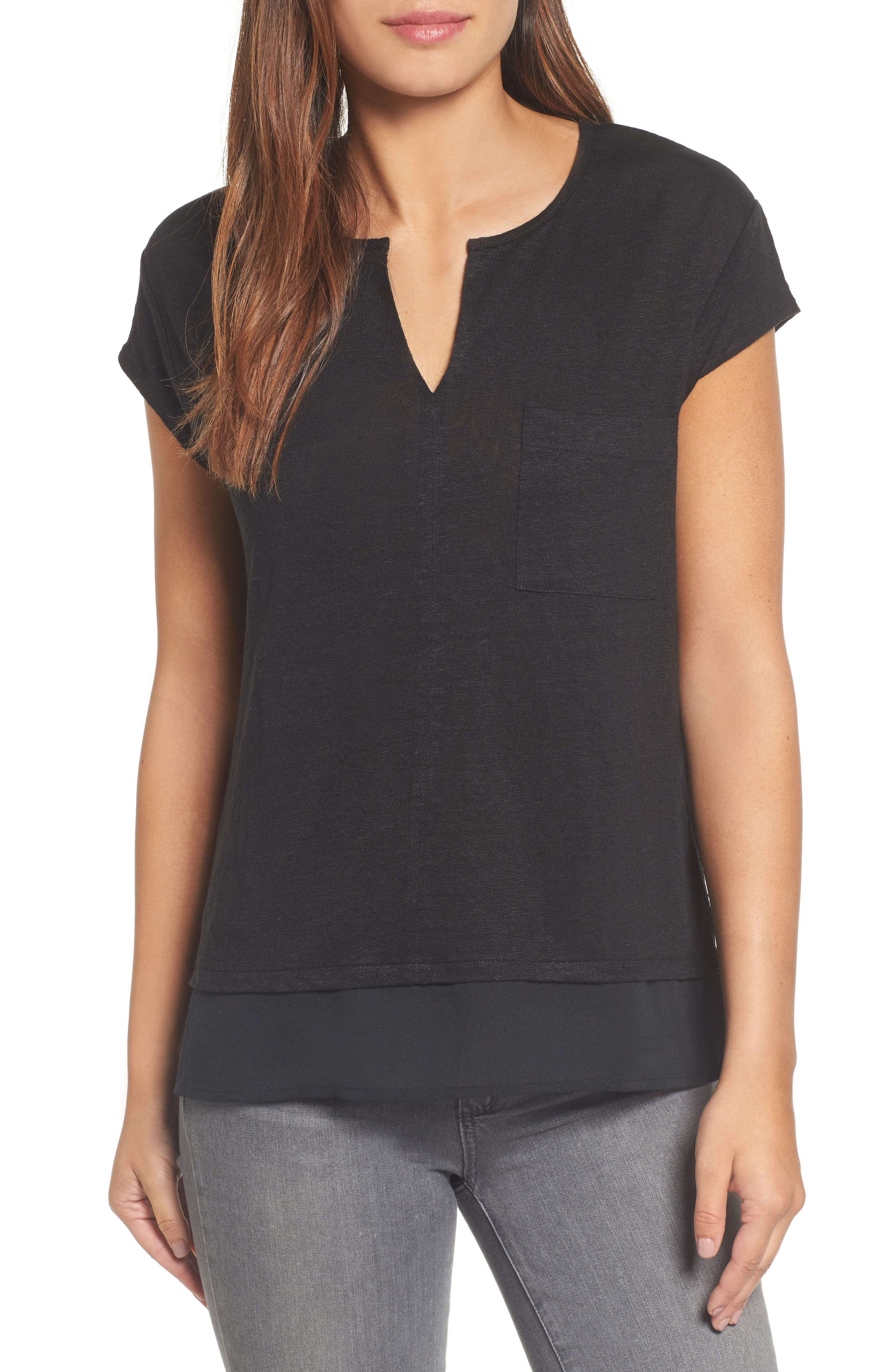 City Mix Layered Look Tee,                             Alternate thumbnail 26, color,