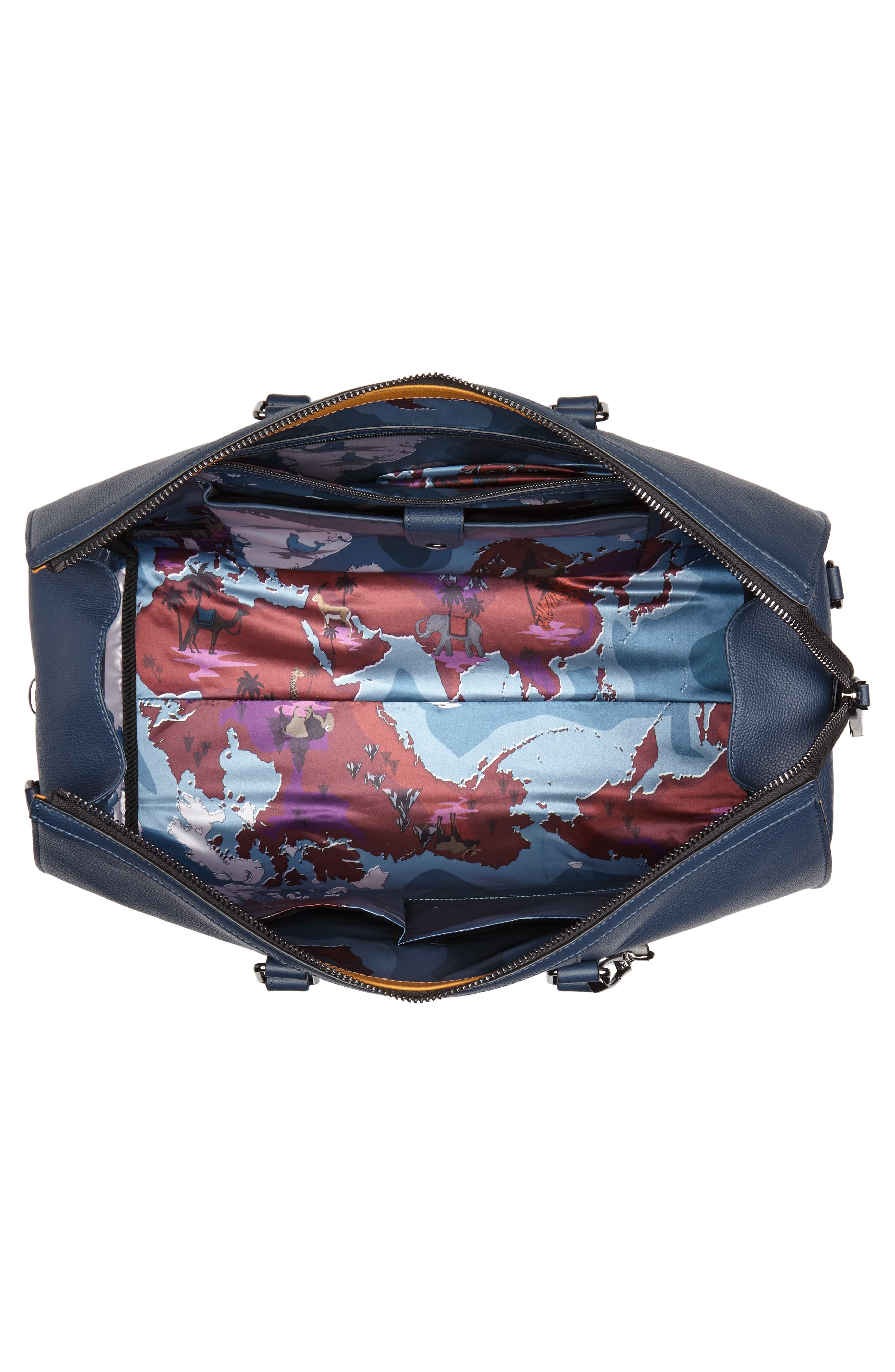 Leather Duffel Bag,                             Alternate thumbnail 11, color,