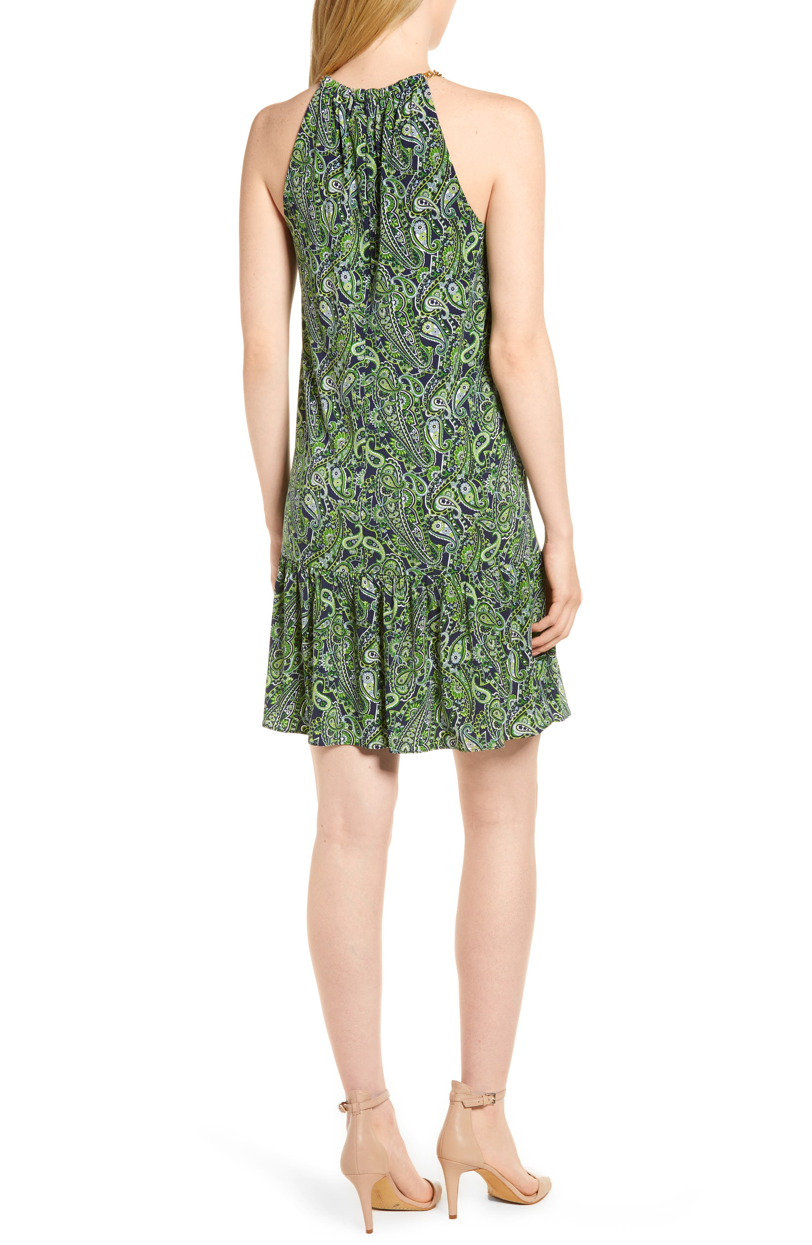 Paisley Paradise Drop Waist Dress,                             Alternate thumbnail 2, color,                             362