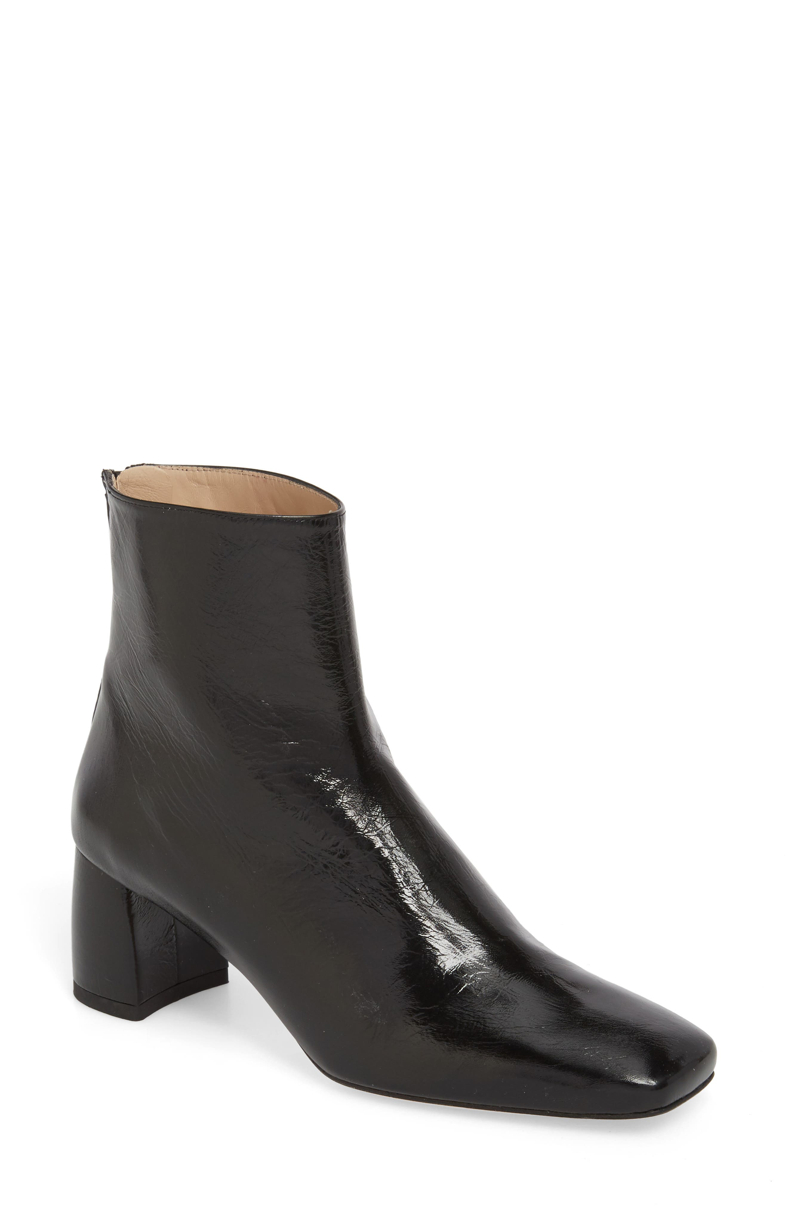 Eager Flared Heel Bootie,                         Main,                         color, 001