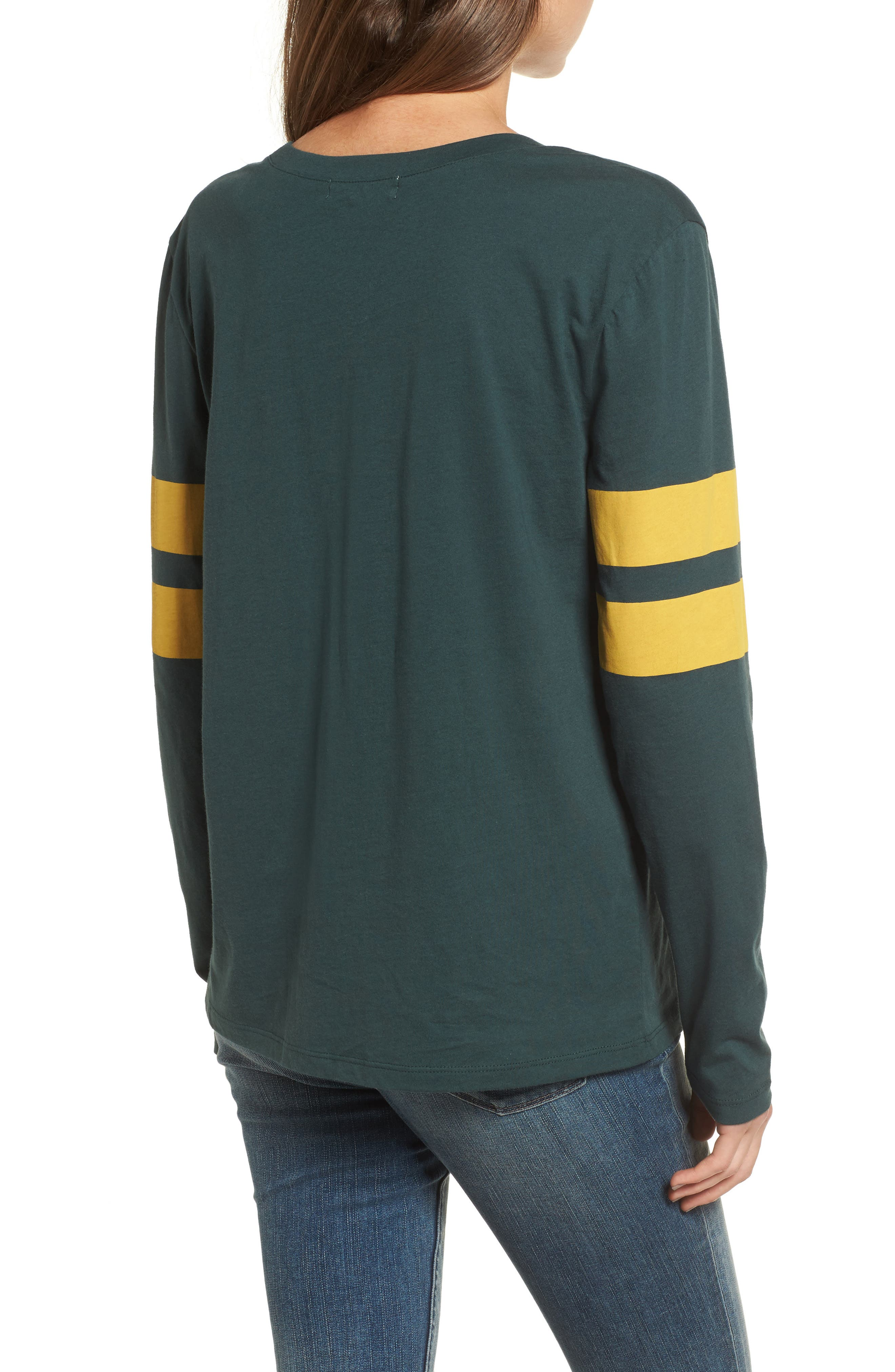 Varsity Stripe Cotton Tee,                             Alternate thumbnail 31, color,