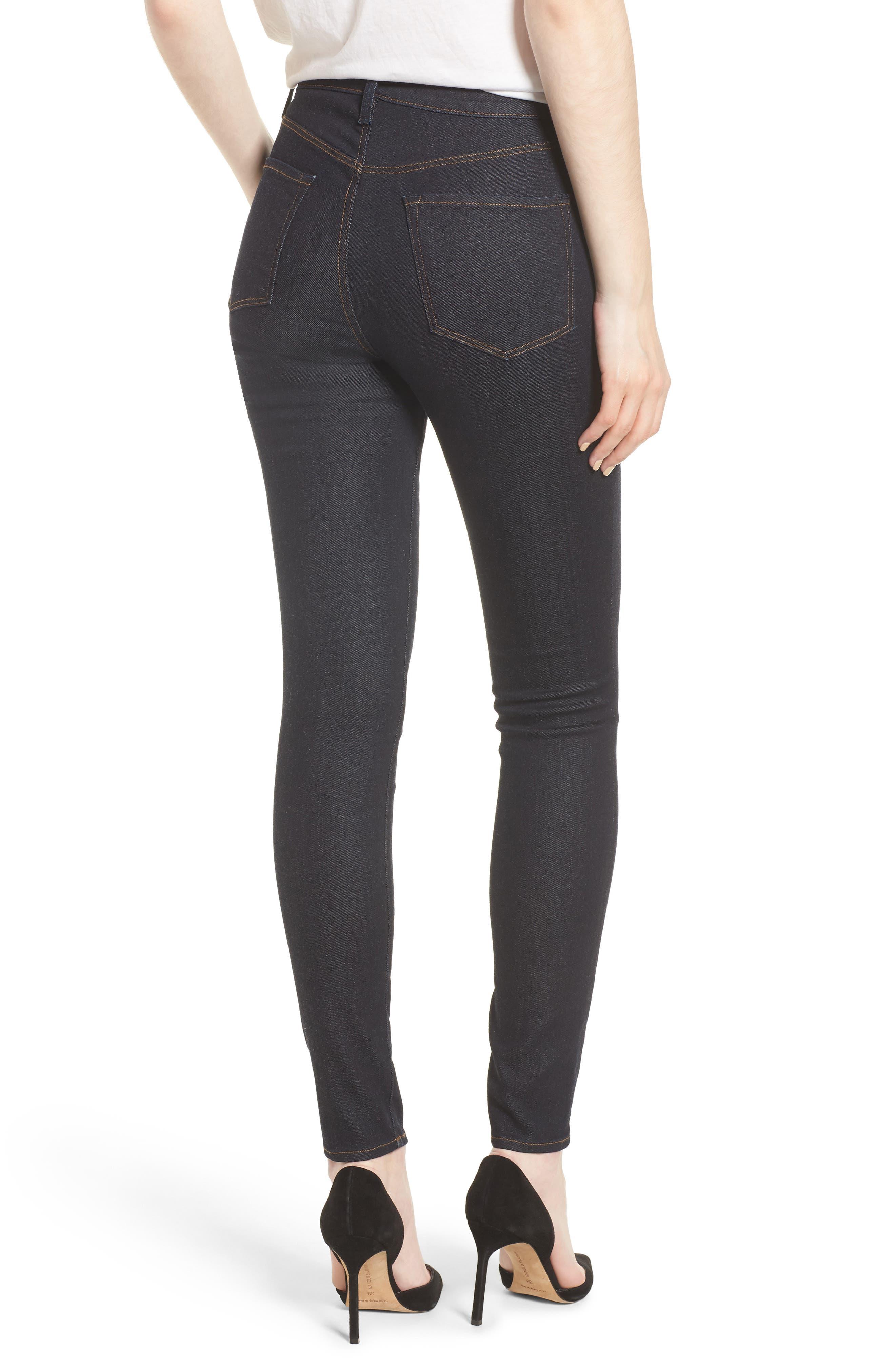 Maria High Waist Super Skinny Jeans,                             Alternate thumbnail 2, color,                             DARK TWILIGHT