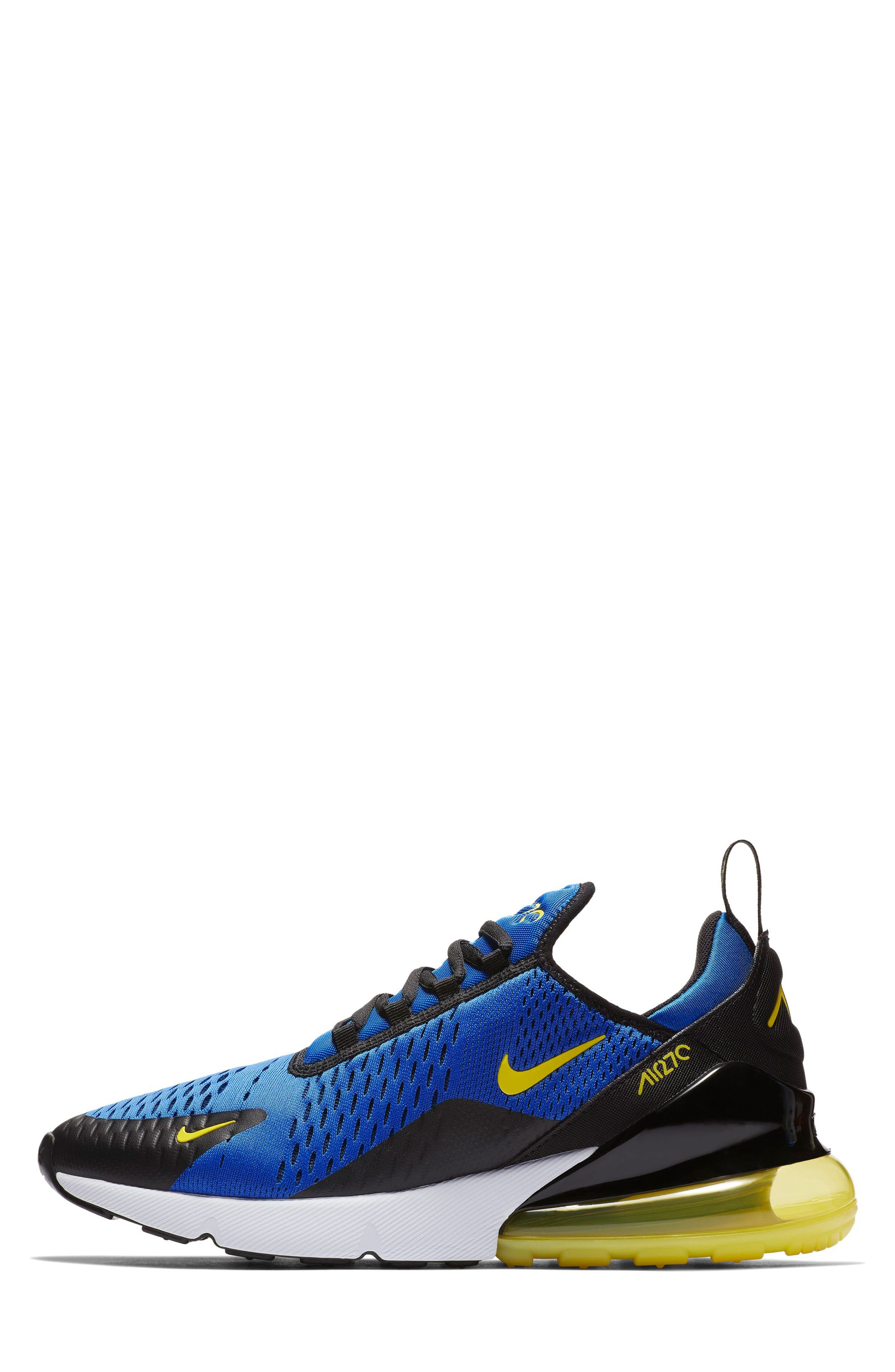 Air Max 270 Sneaker,                             Alternate thumbnail 6, color,                             GAME ROYAL/ WHITE/ BLACK