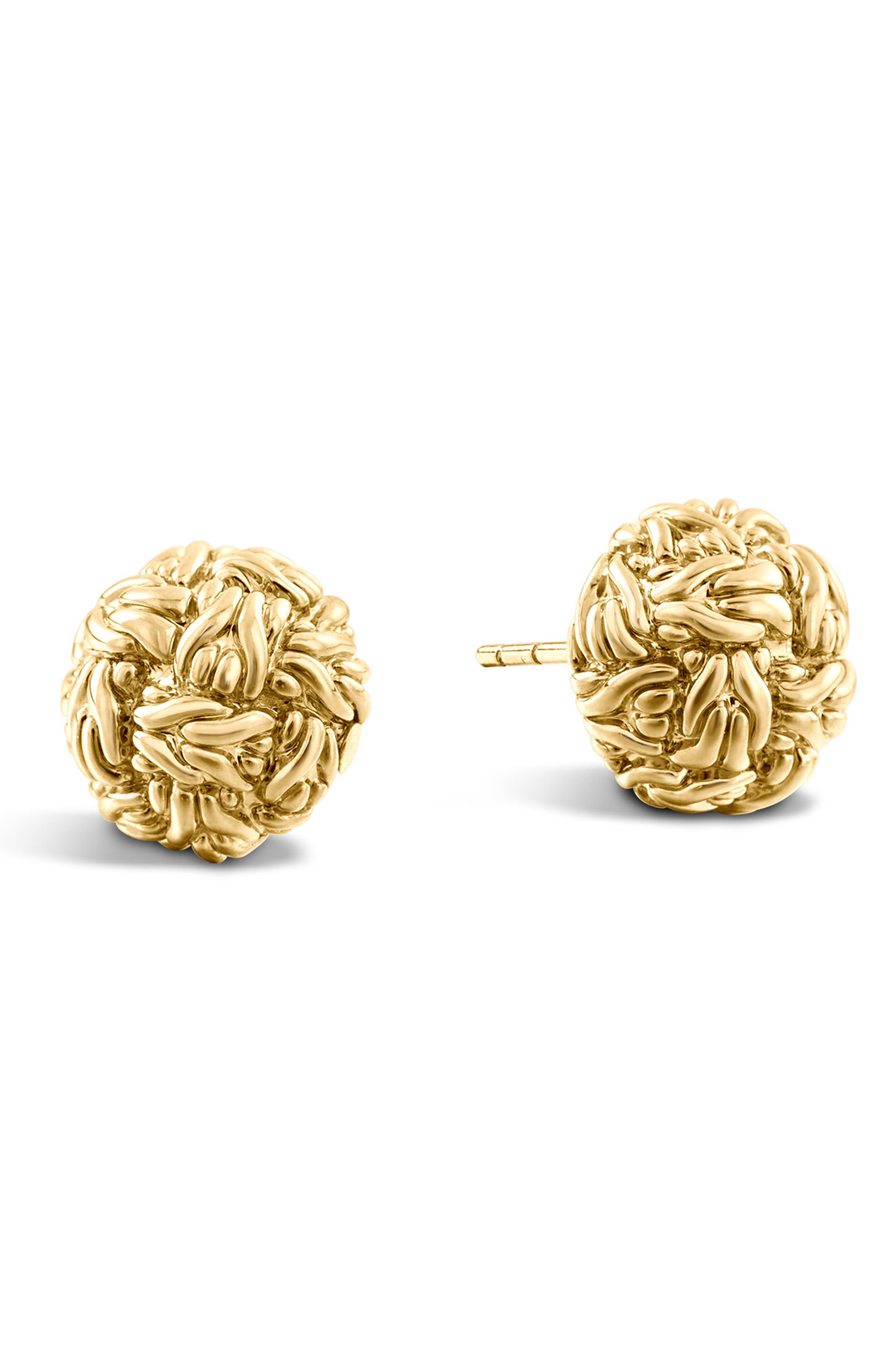 Classic Chain Gold Stud Earrings,                             Main thumbnail 1, color,                             710