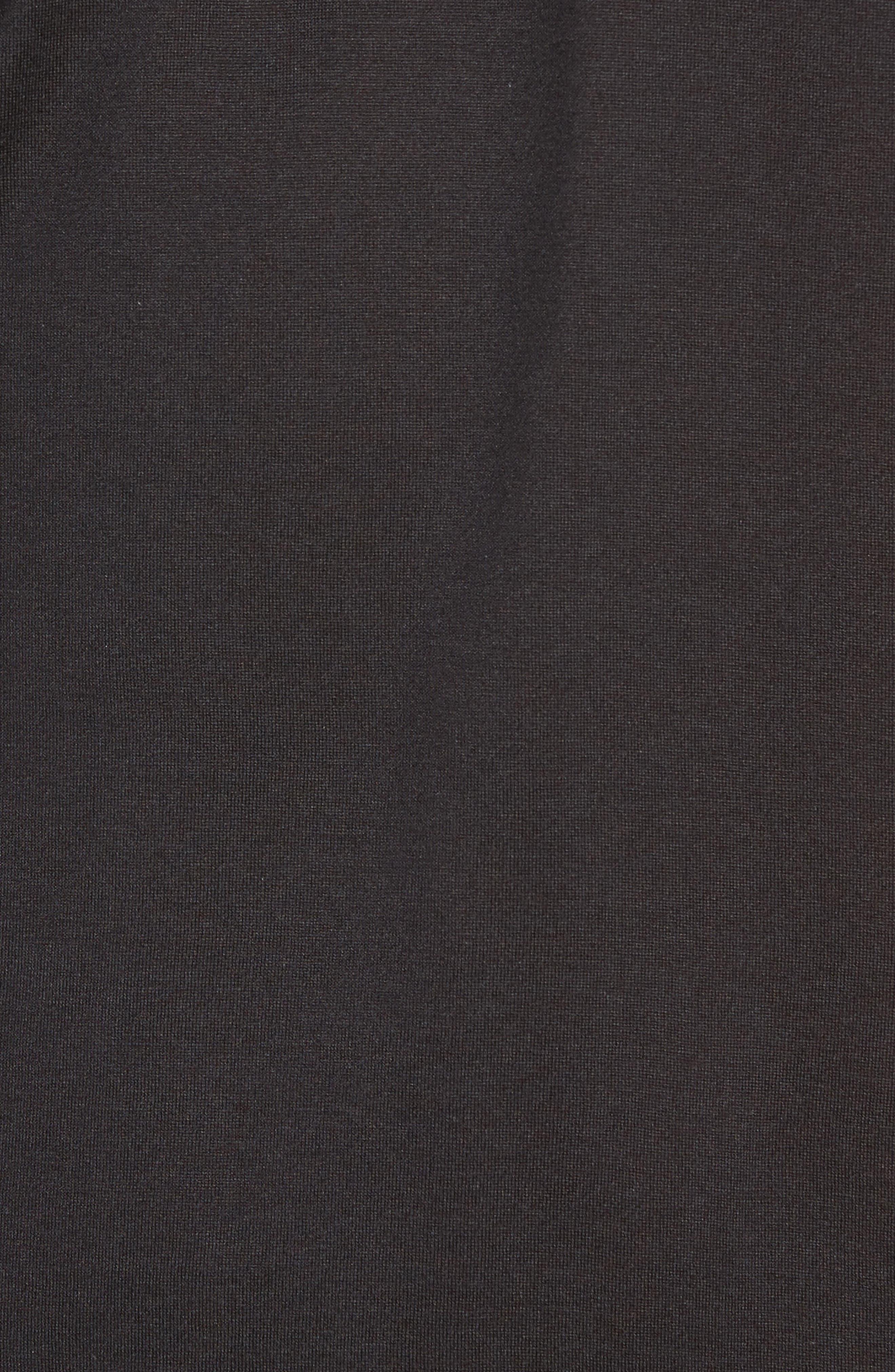 Silk & Cotton V-Neck T-Shirt,                             Alternate thumbnail 5, color,                             001